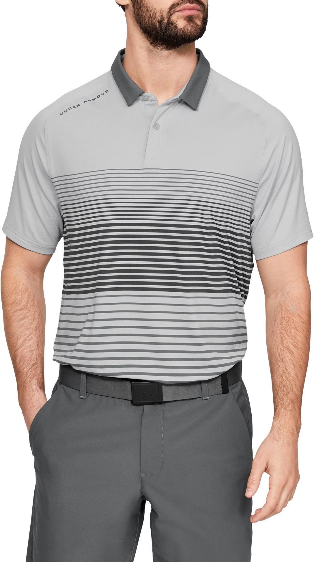 07b4955287e Under Armour - Gray Iso-chill Power Play Golf Polo for Men - Lyst. View  fullscreen