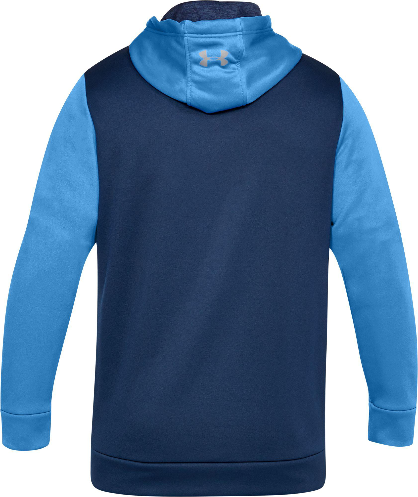 219b4a854 Under Armour - Blue Armour Fleece Icon Solid Pullover Hoodie for Men - Lyst