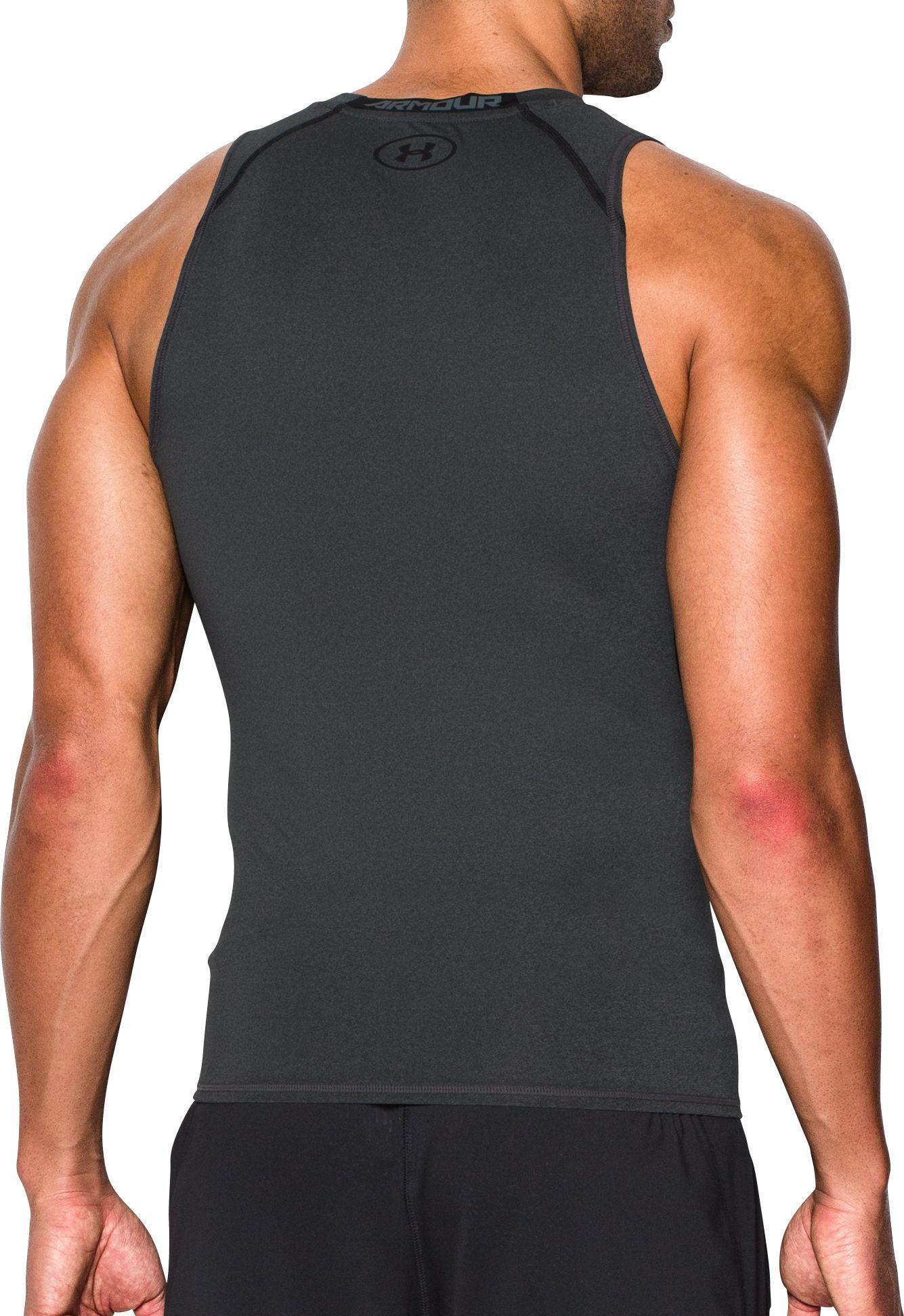 1007c824 Under Armour - Black Heatgear Armour Compression Sleeveless Shirt for Men -  Lyst