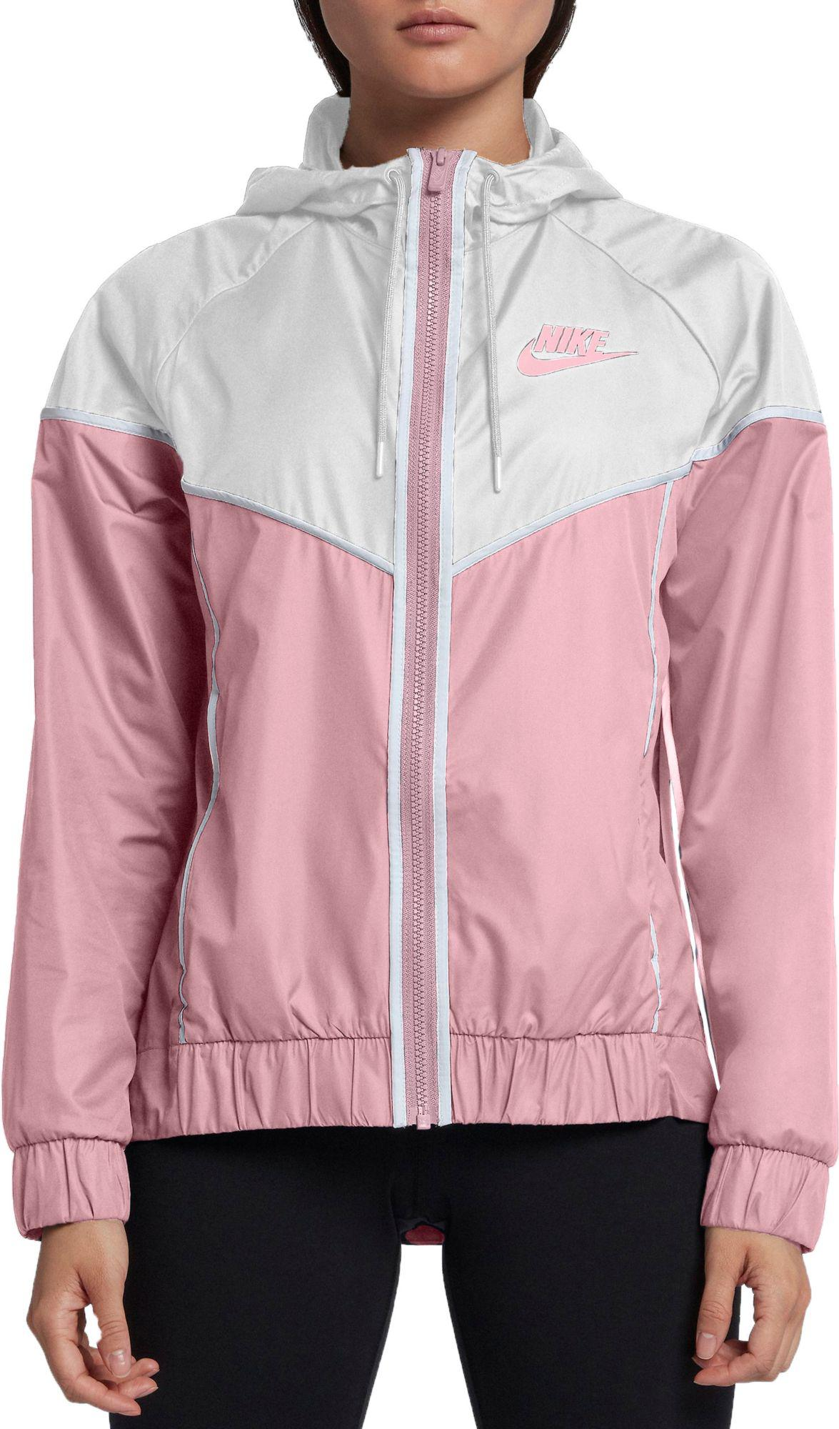 detailed look a0bc2 68e72 Nike. Womens Pink Sportswear Windrunner Jacket