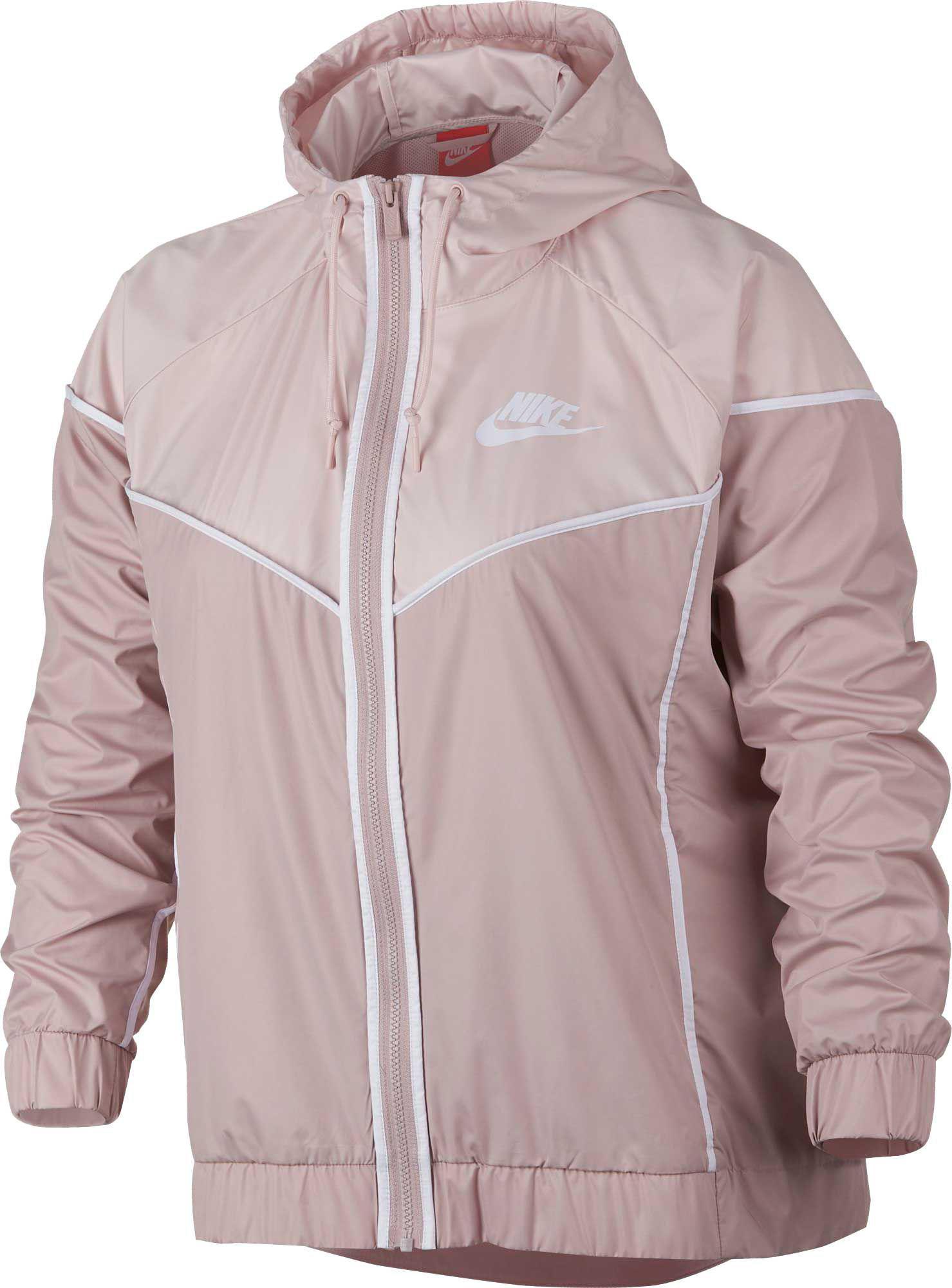 9cf5811d3b0 Lyst - Nike Plus Size Sportswear Windrunner Jacket in Pink