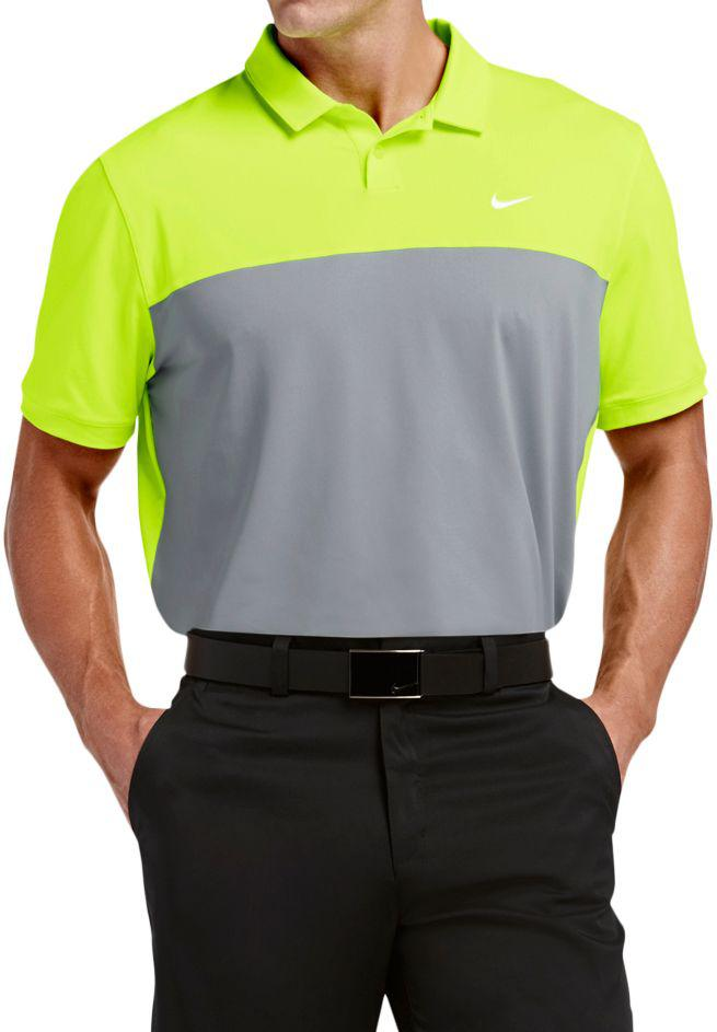 d544ba0b Lyst - Nike Dri-fit Icon Color Block Golf Polo in Gray for Men