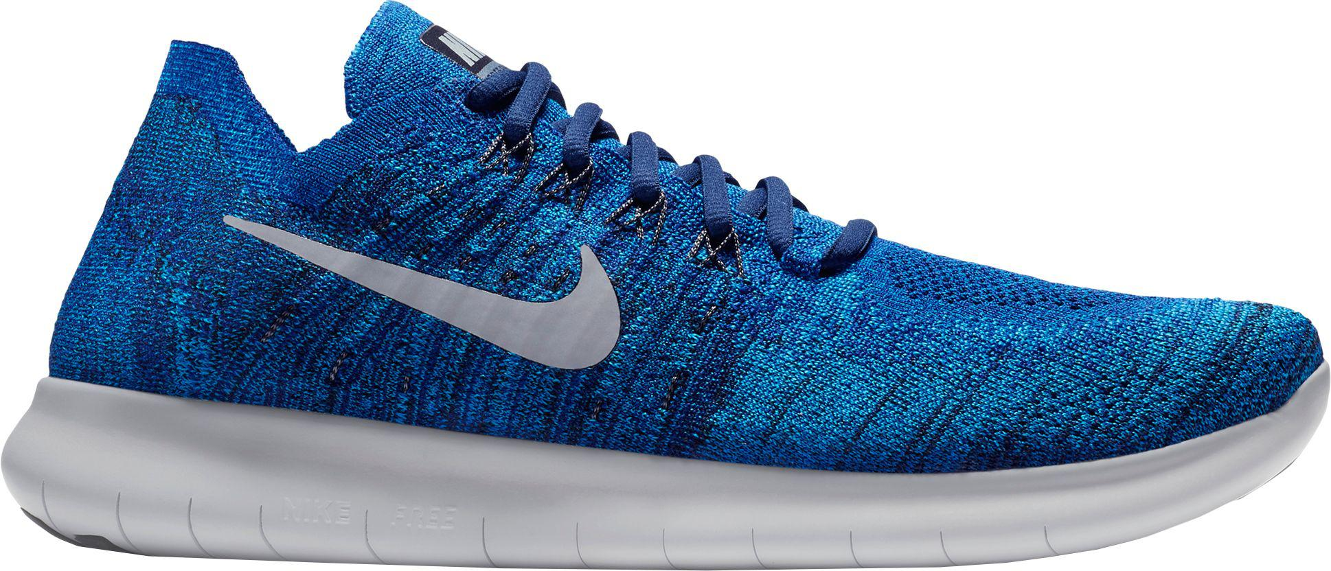 d0453394f87 ... hot nike blue free rn flyknit 2017 running shoes for men lyst f4dfc  5969c ...
