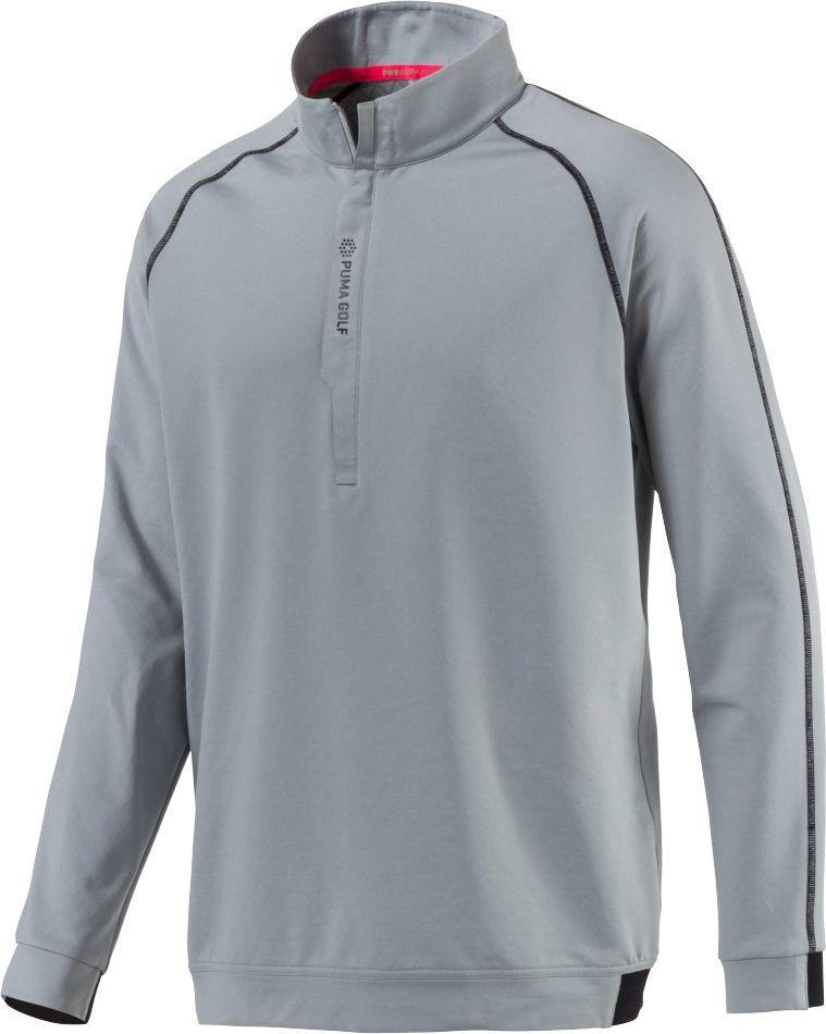 4d77fe115b28 Lyst - PUMA Pwrwarm Golf 1⁄4 Zip in Gray for Men