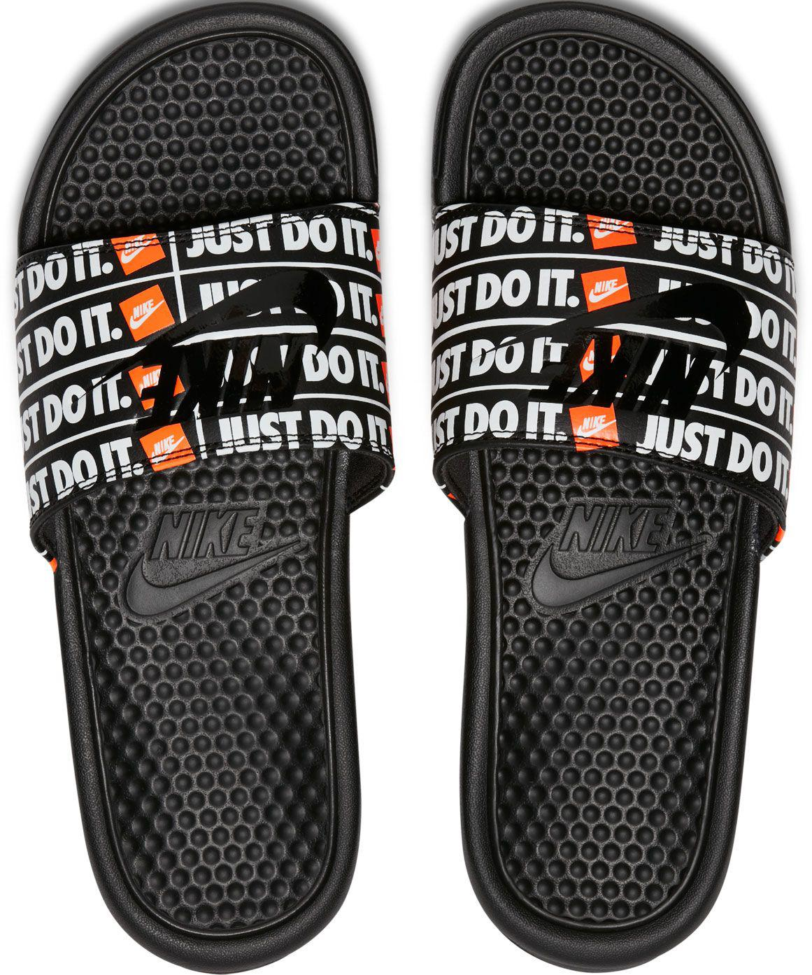8479f32e84b6 Lyst - Nike Enassi Just Do It Print Slides in Black for Men
