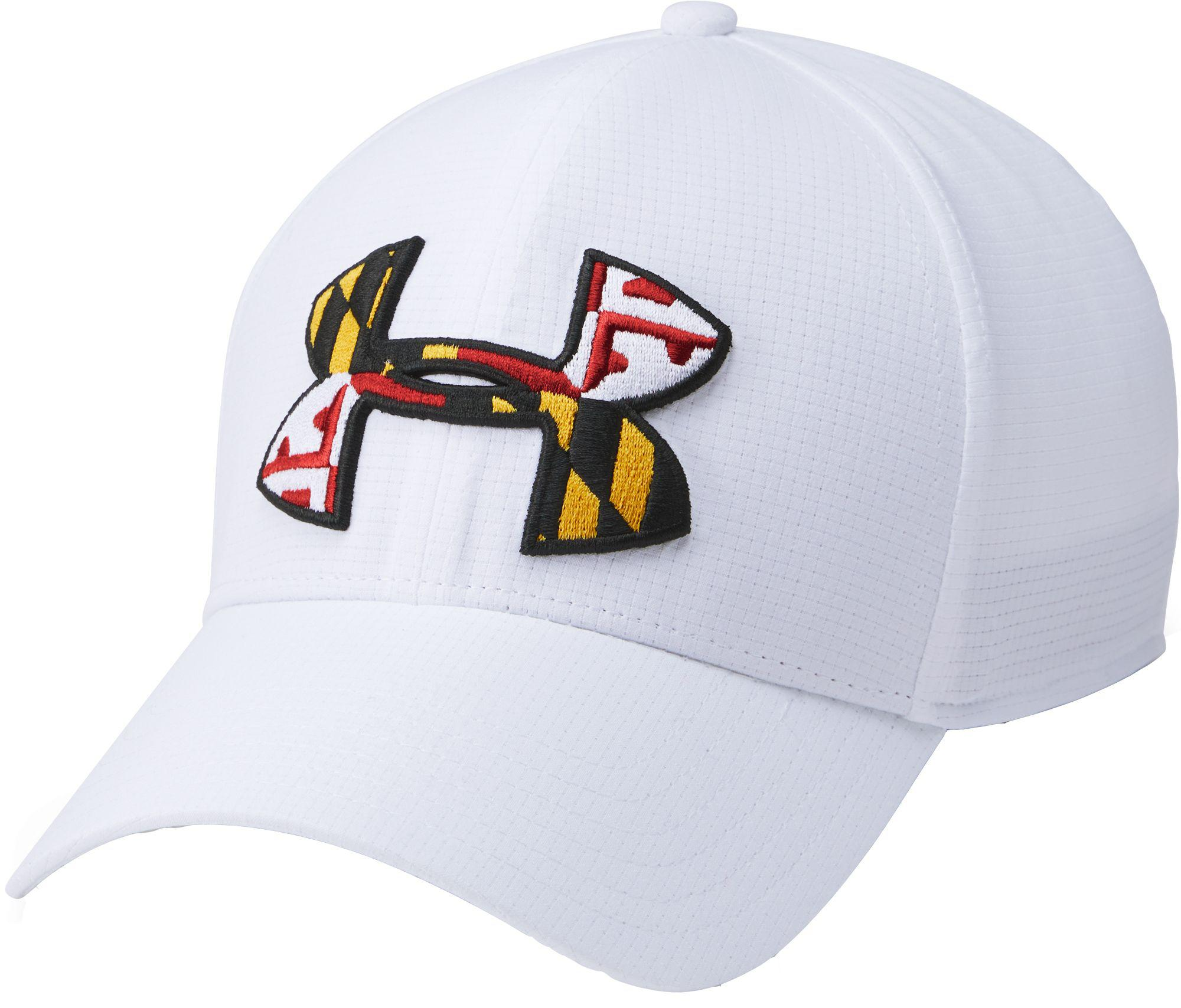 80c26f8e515 Lyst - Under Armour Maryland Flag Big Logo Low Crown Hat in White ...