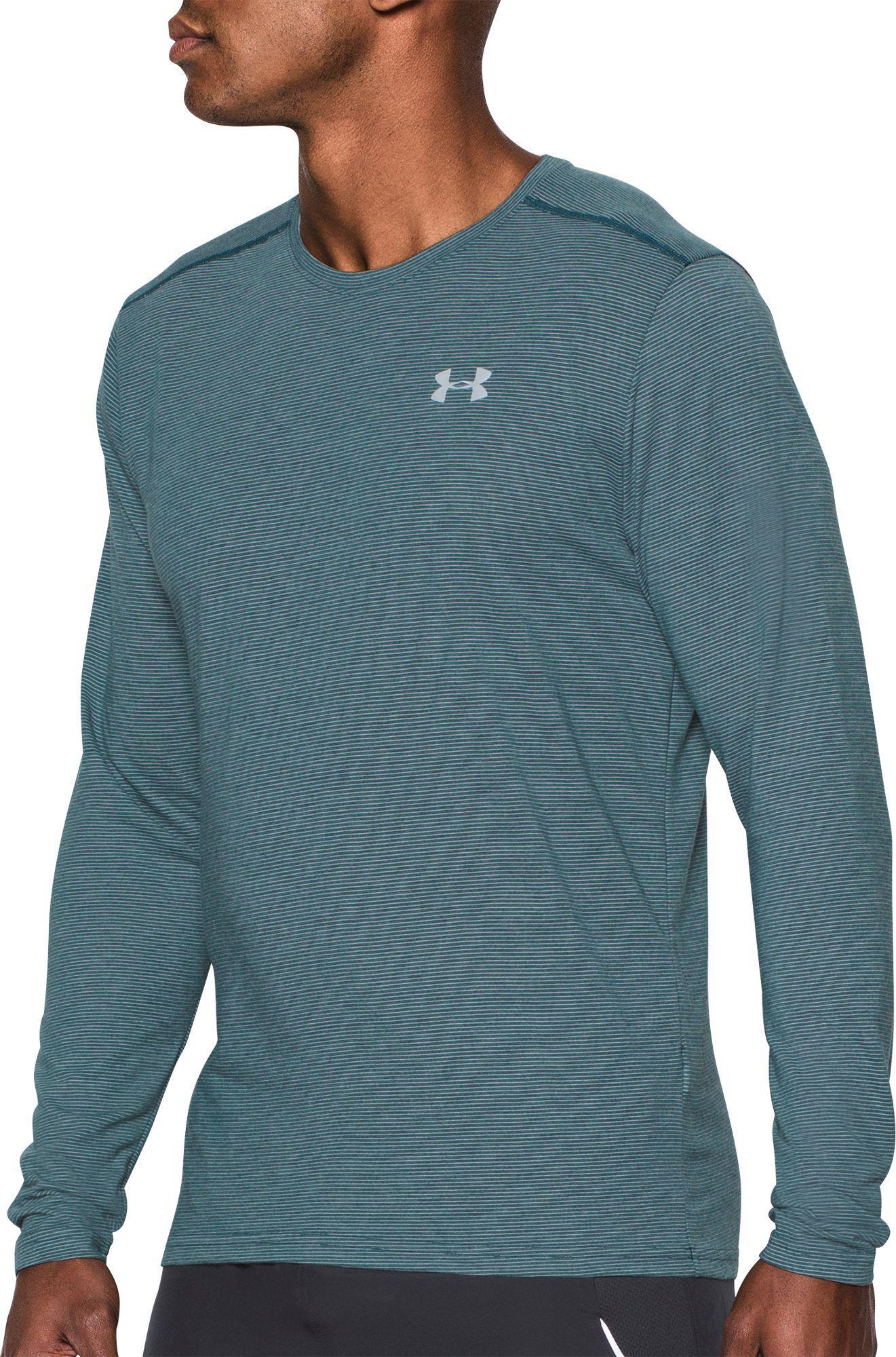 Black Soft And Antislippery Men's Clothing Under Armour Streaker 2.0 Half Zip Long Sleeve Mens Running Top