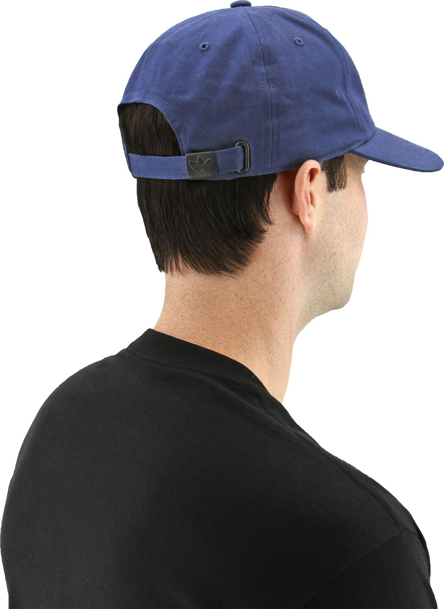 63346768d5a ... new arrivals adidas blue originals relaxed base strapback hat for men lyst.  view fullscreen 84762
