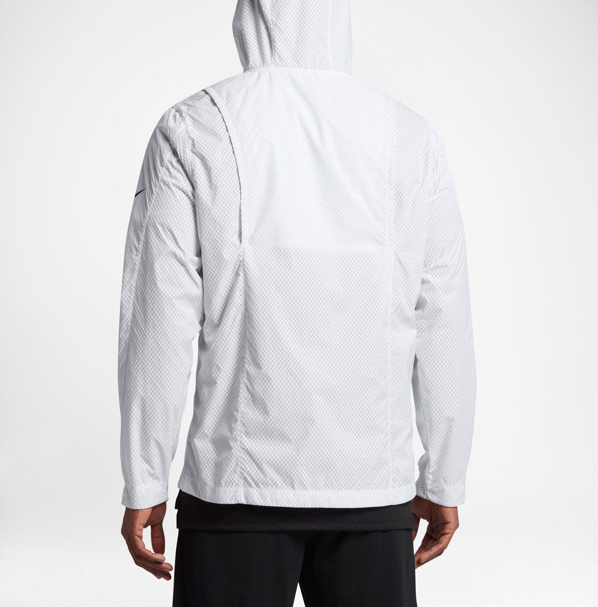 80289eb8061d Lyst - Nike Hyper Elite All Day Full Zip Basketball Jacket in White ...