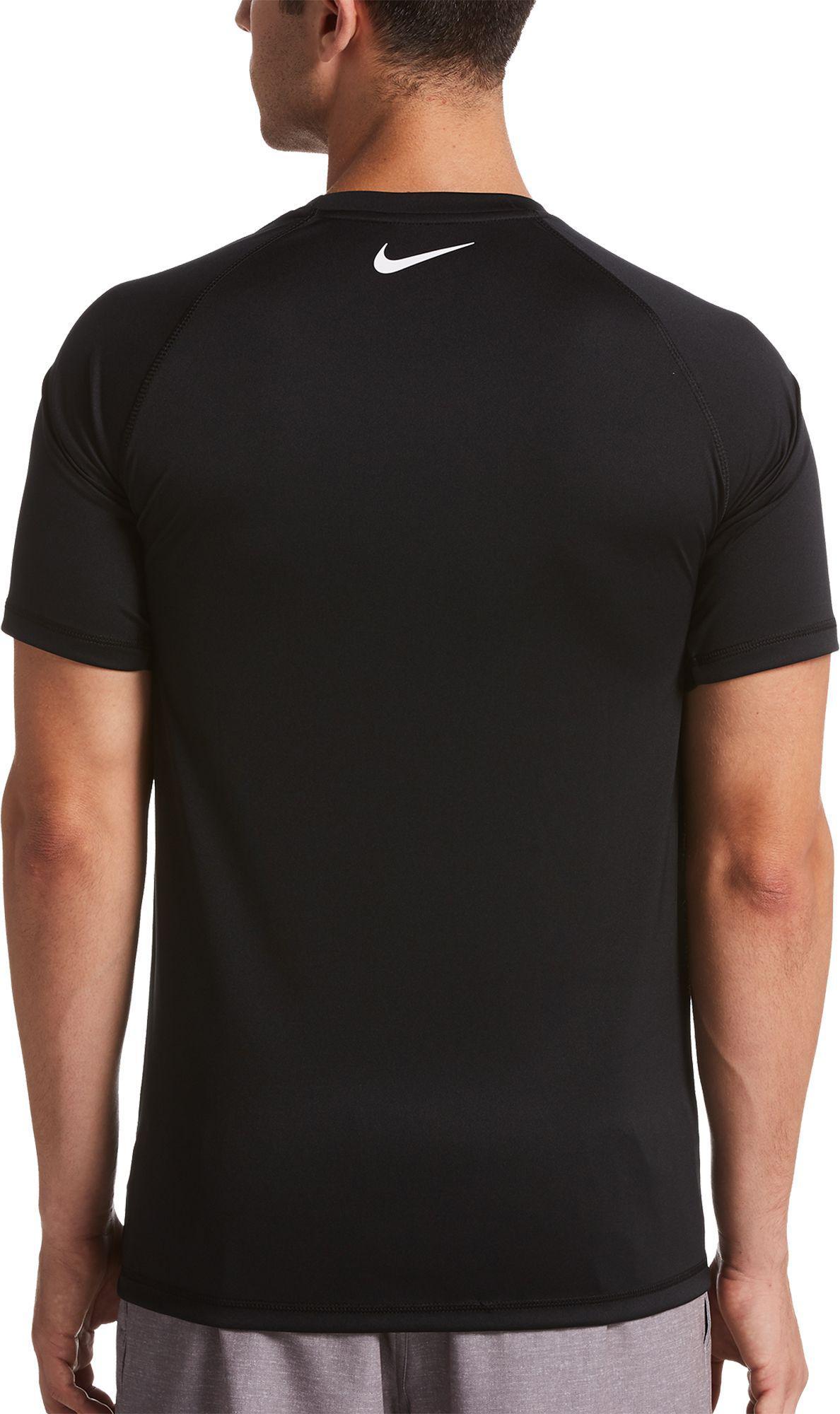 ca19ab52b Nike - Black Rift Short Sleeve Rash Guard for Men - Lyst. View fullscreen
