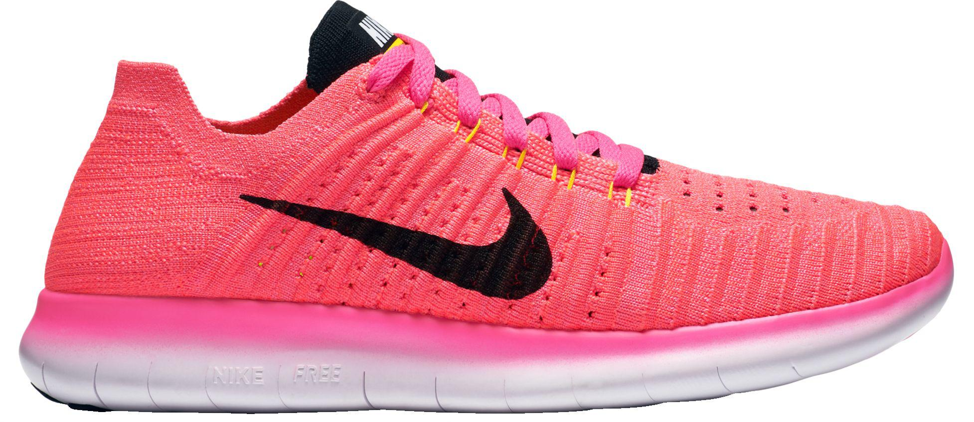 Nike - Pink Free Rn Flyknit Running Shoes - Lyst