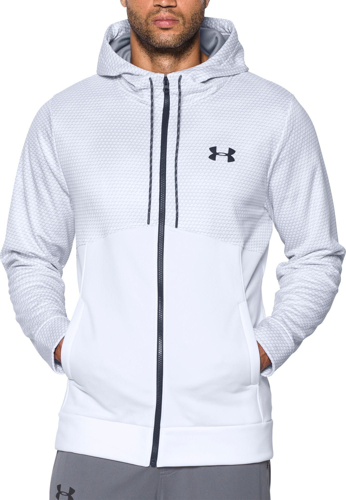 5f47365bca97 Lyst - Under Armour Storm Armour Fleece Full Zip Hoodie in White for Men