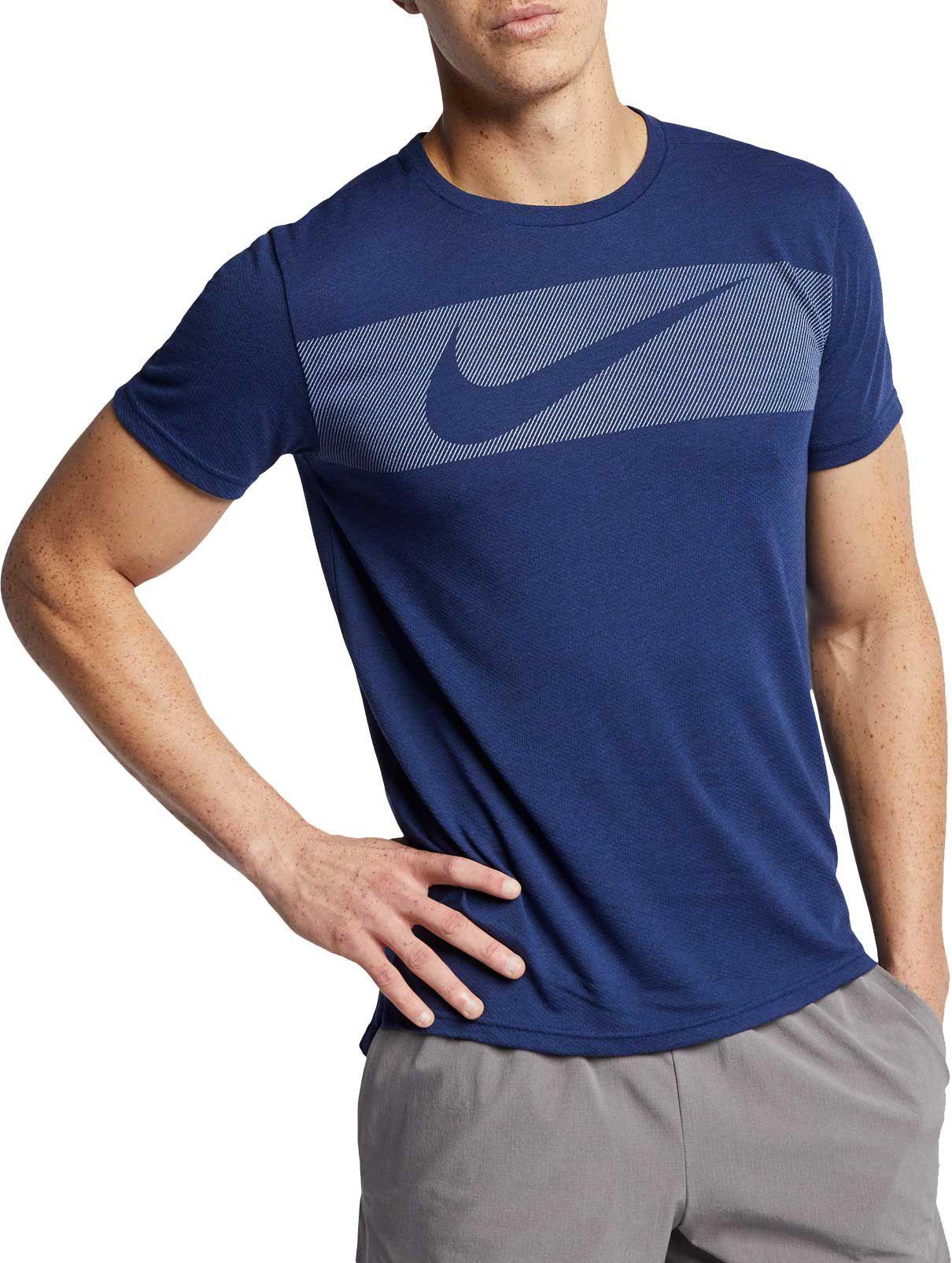 cd296f5c7ee1f Lyst - Nike Hyper Dry Graphic Tee in Blue for Men