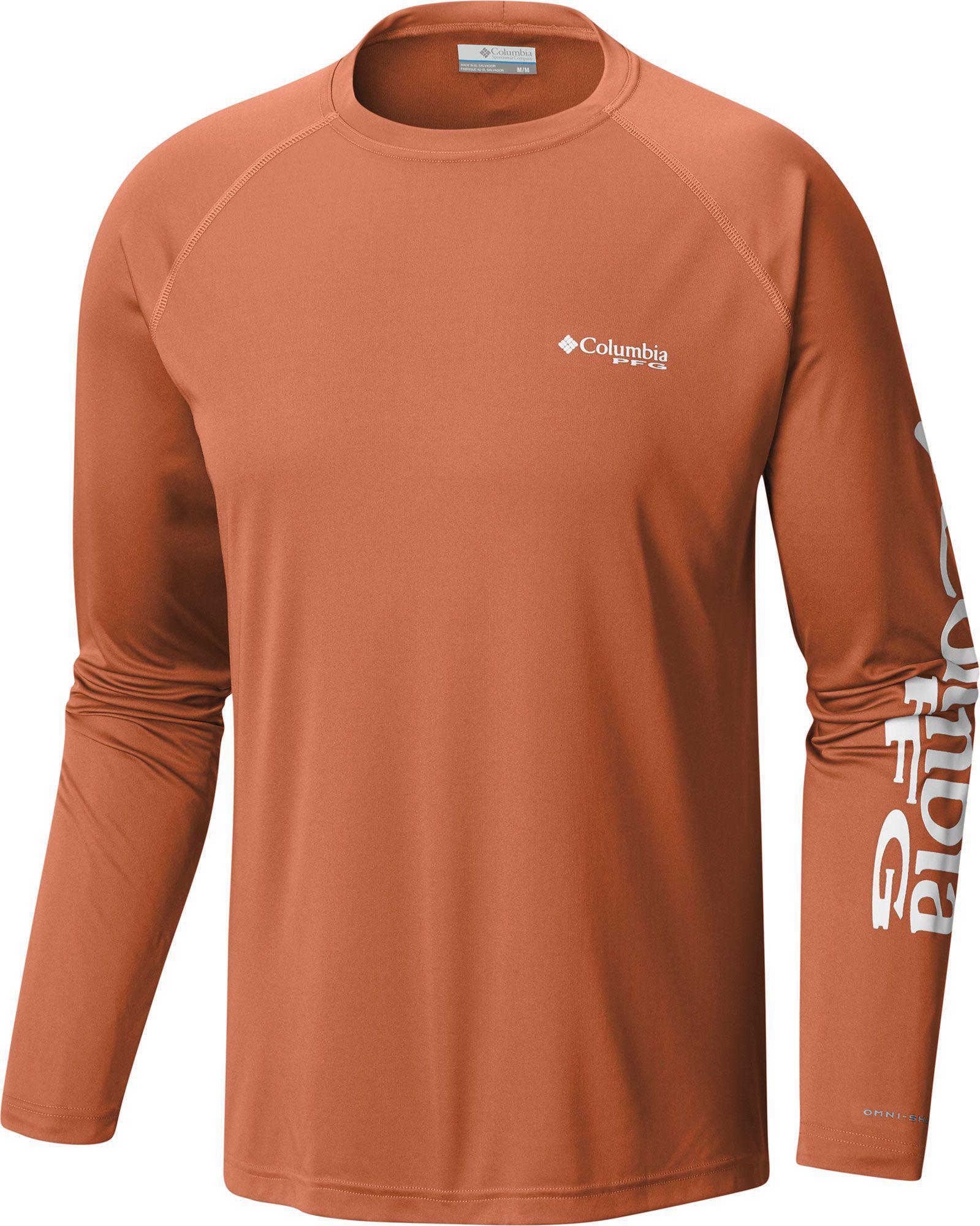 790fa406d61 Columbia Pfg Terminal Tackle Long Sleeve Shirt in Orange for Men - Lyst