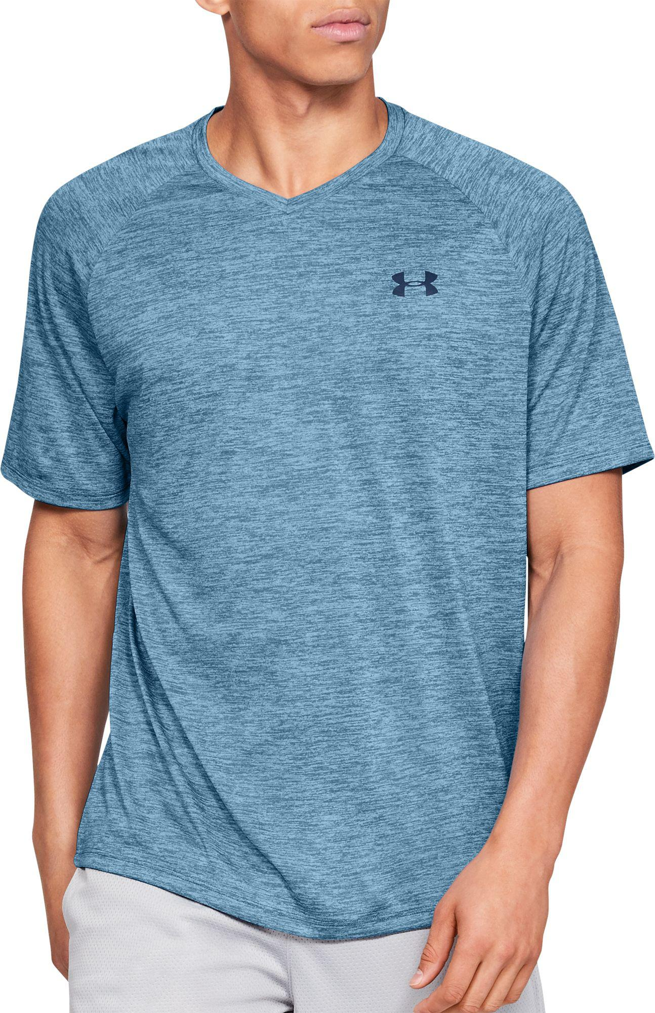1a4cf0b5 Lyst - Under Armour Tech V-neck T-shirt in Blue for Men - Save 24%