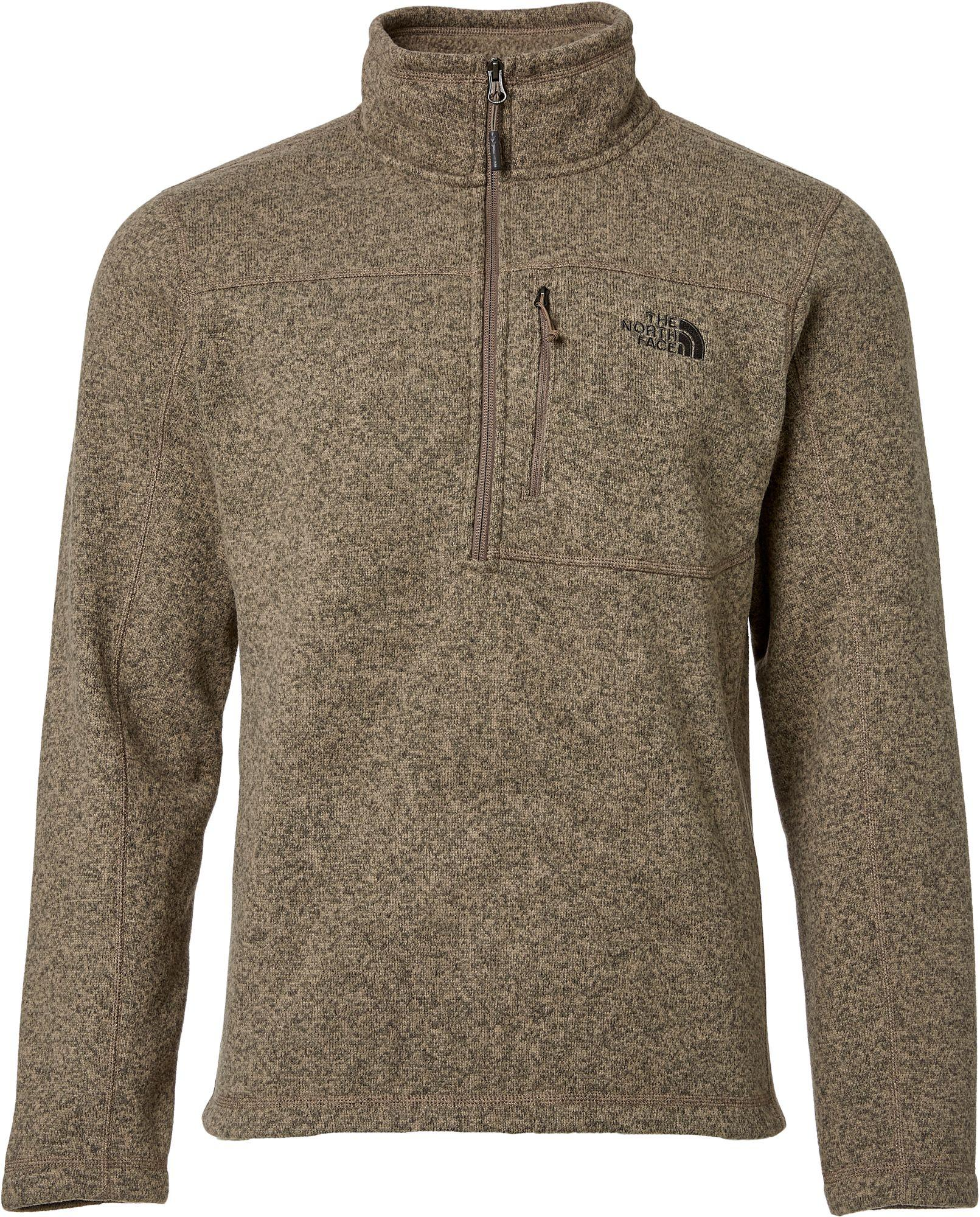 The north face Gordon Lyons Quarter Zip Fleece Pullover in Brown ...