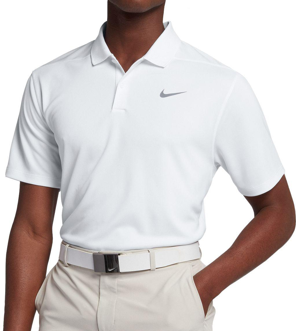ffb9b21c Nike Solid Dry Victory Golf Polo in White for Men - Lyst