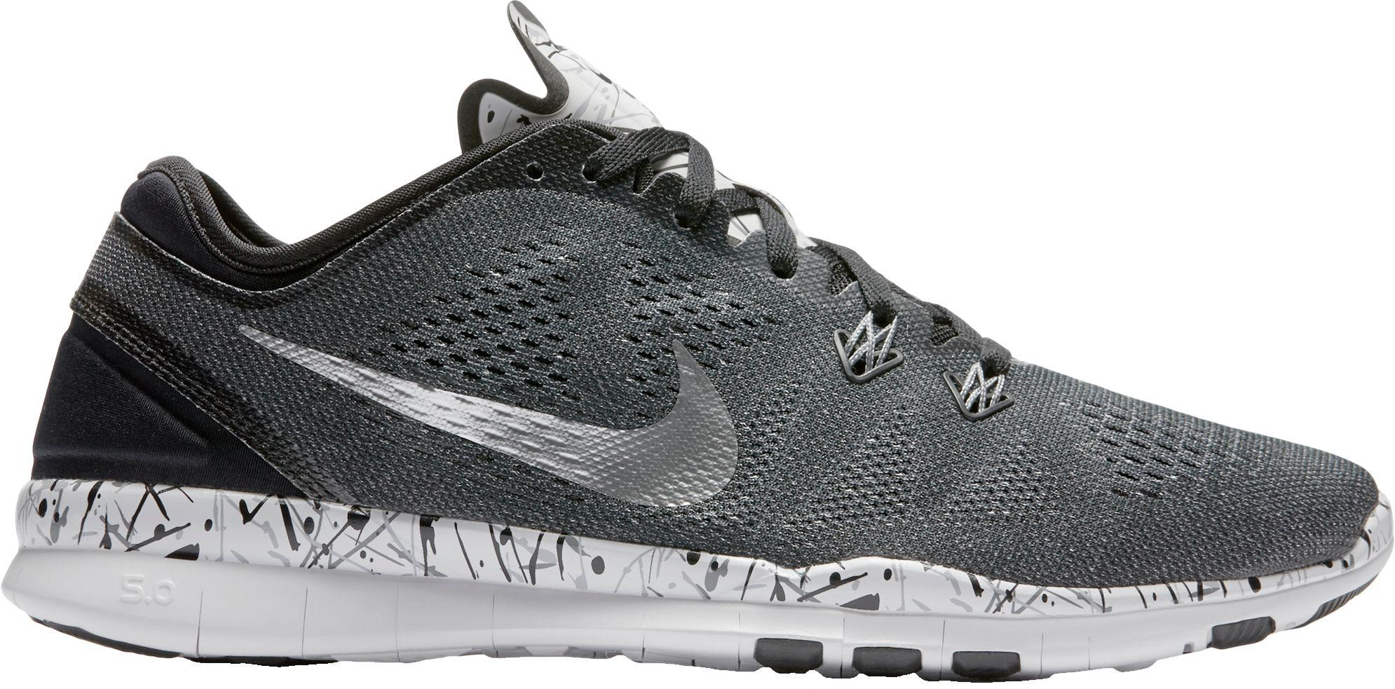 sale retailer 90a4a dae6c Nike Free 5.0 Tr Fit 5 Prt Training Shoes in Gray - Lyst