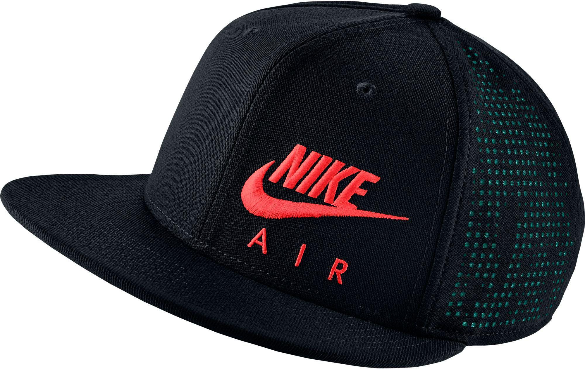b4812aa8310 ... usa lyst nike air hybrid true adjustable snapback hat in black for men  22899 e2101