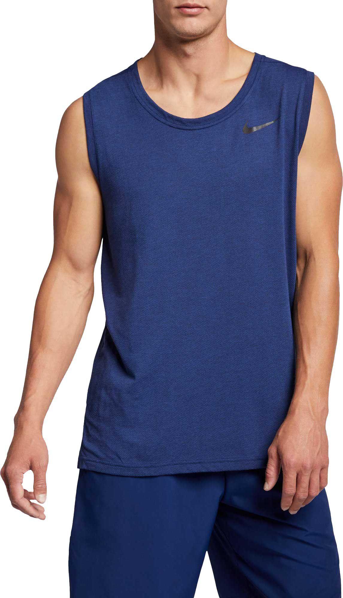 80e2d3c808b7f Lyst - Nike Hyper Dry Training Tank Top in Blue for Men