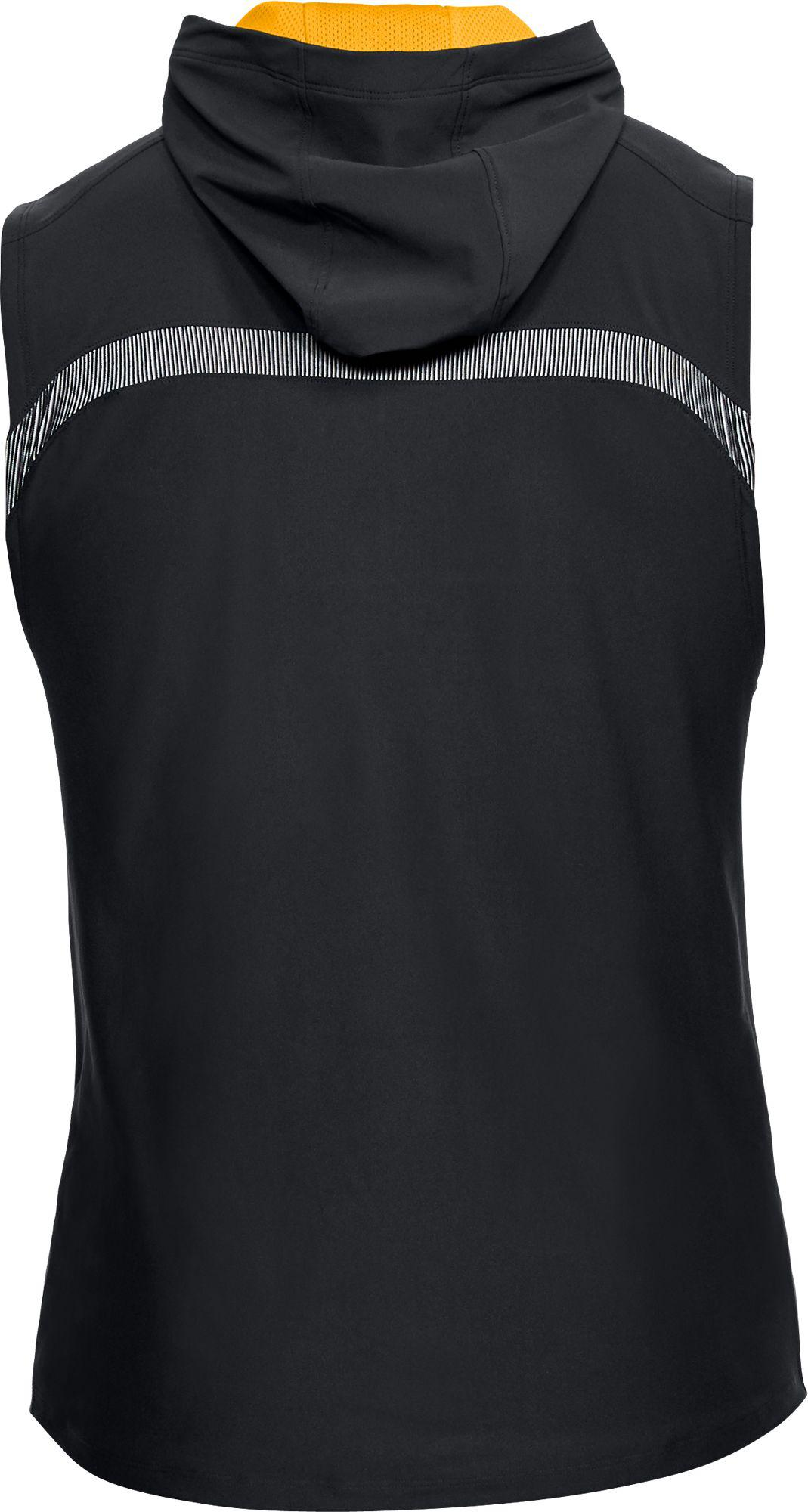 d412f41351e6b Lyst - Under Armour Project Rock Vanish Sleeveless Hoodie in Black ...