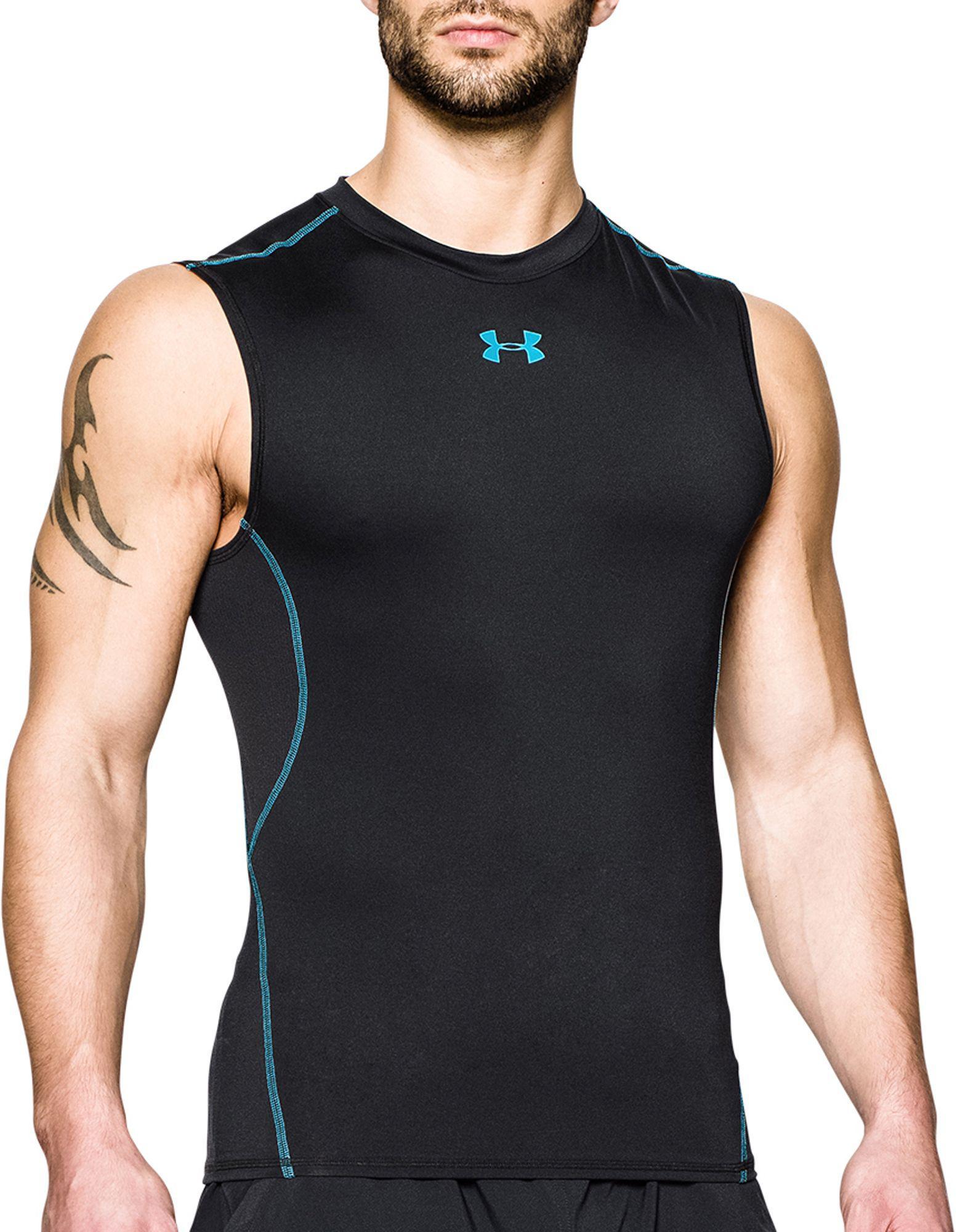 53df0003a5d2c Lyst - Under Armour Heatgear Armour Sleeveless Shirt in Black for Men