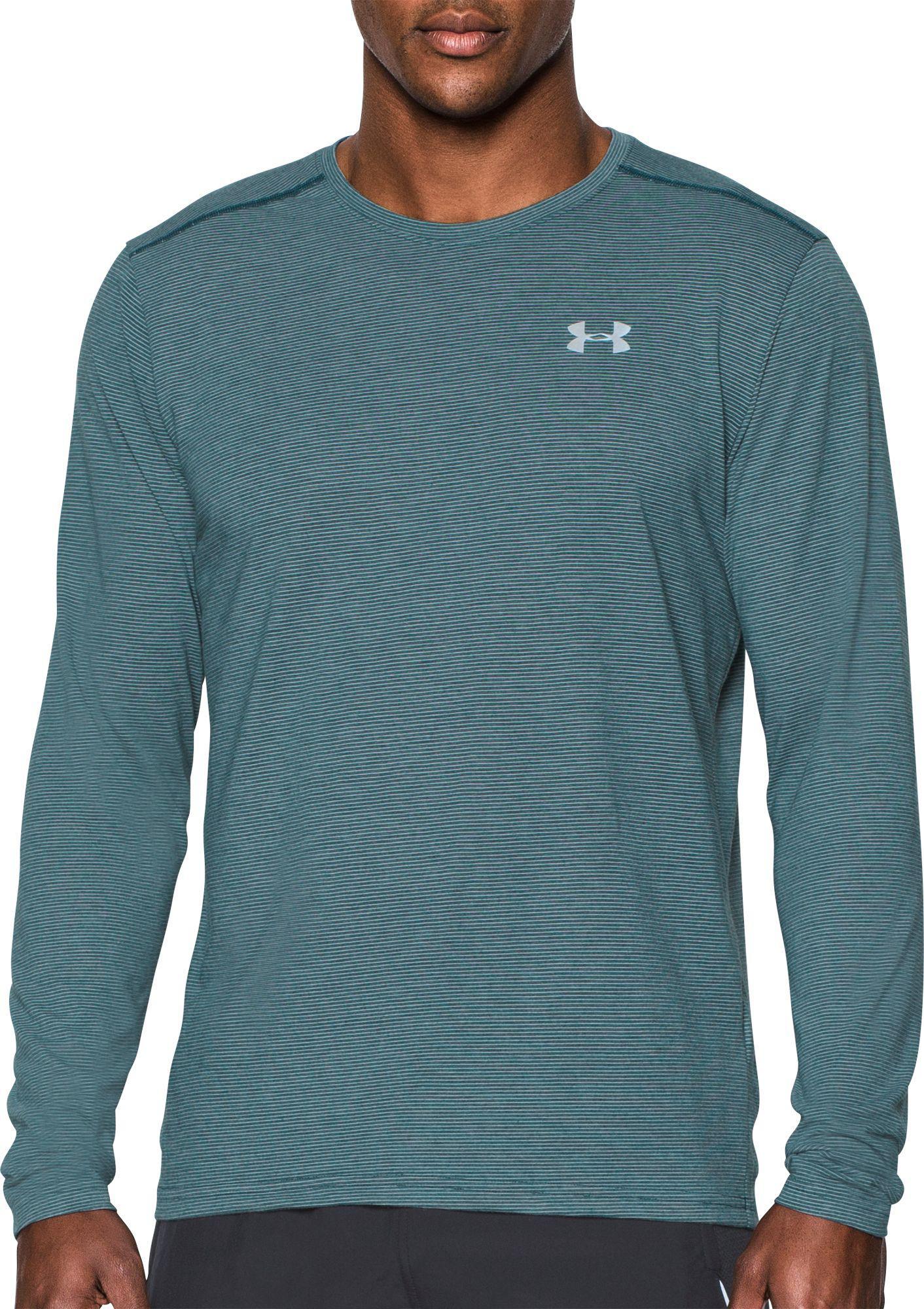 Shirts Under Armour Streaker 2.0 Half Zip Long Sleeve Mens Running Top Men's Clothing Black Soft And Antislippery