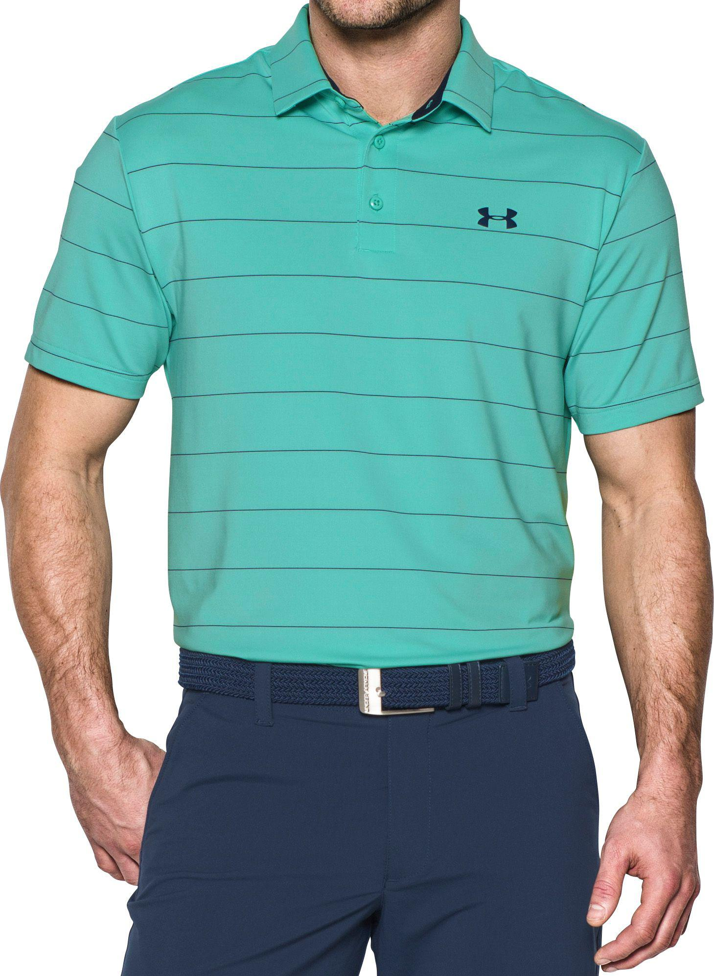 d3579c3f Under Armour Playoff Wedge Stripe Golf Polo in Green for Men - Lyst