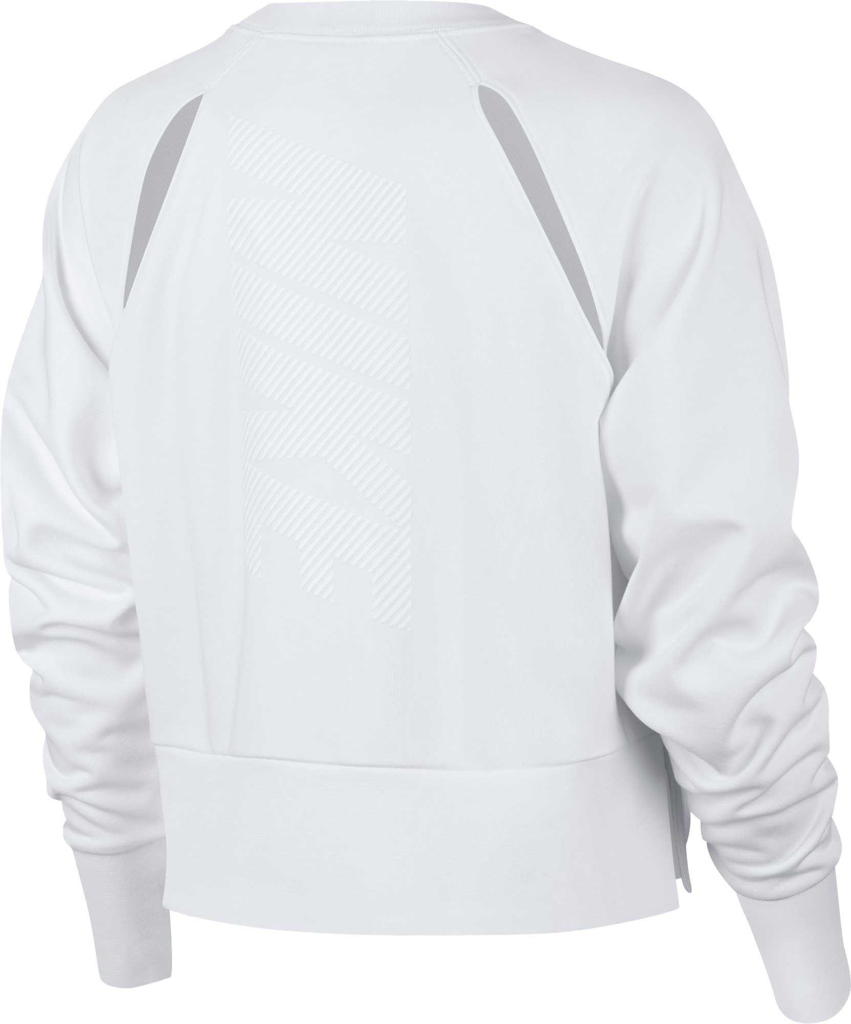 57f0d3f94dc31 Lyst - Nike Versa Slash Training Crew Pullover in White