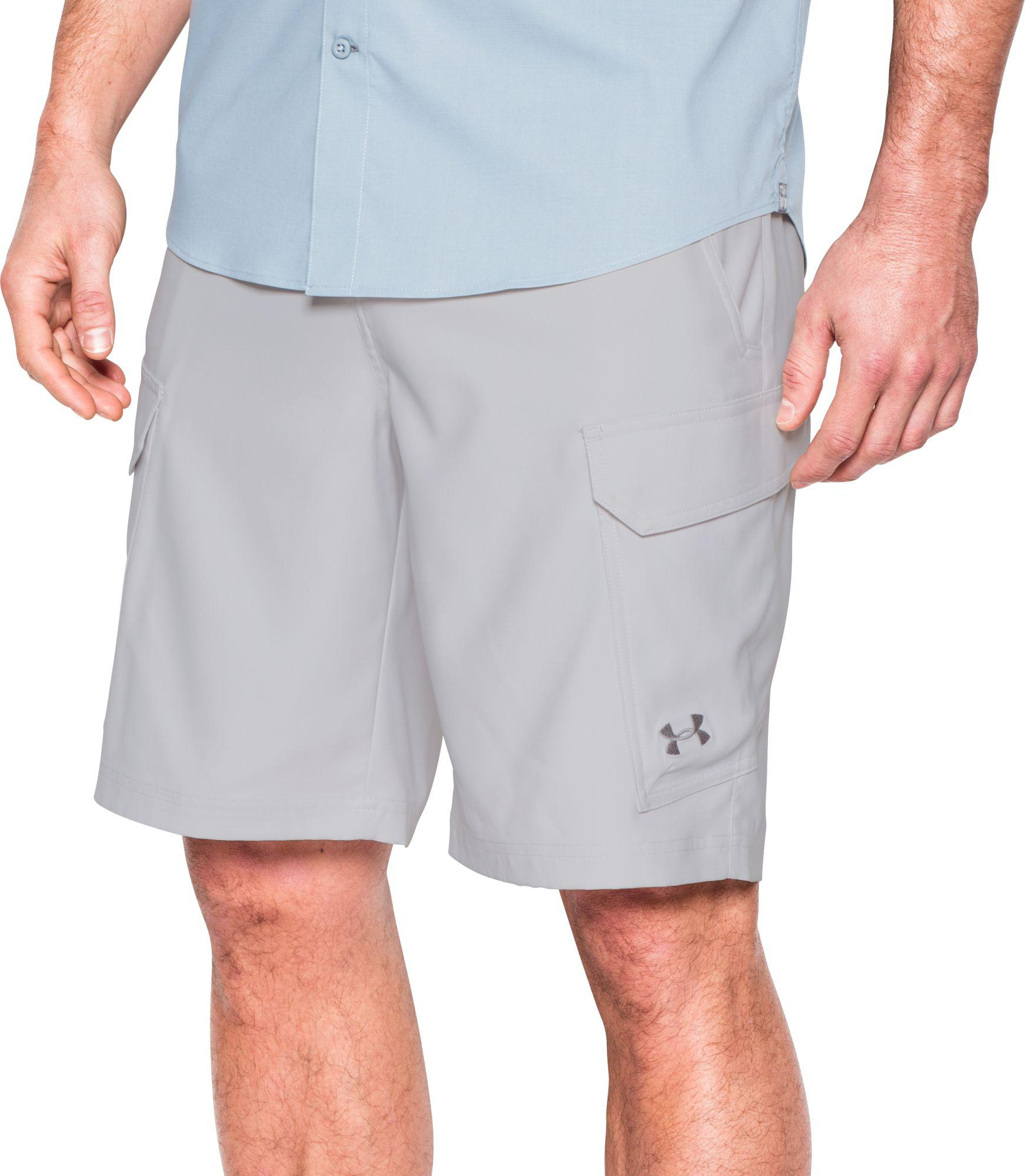 2dc079ecc4 Under Armour Fish Hunter Cargo Shorts in Gray for Men - Lyst
