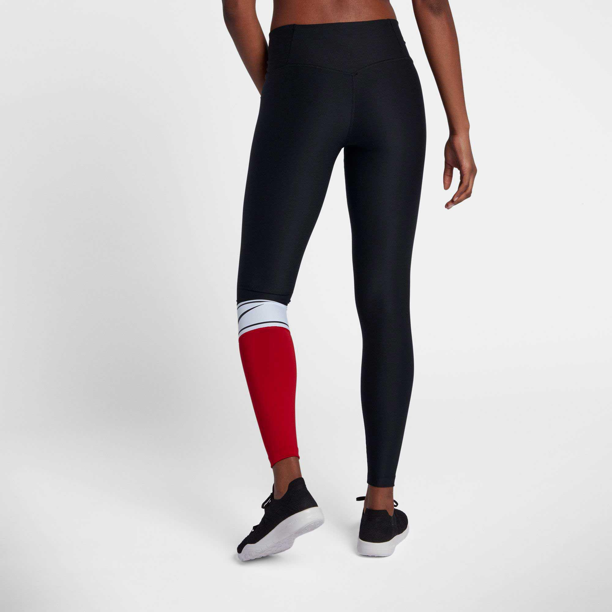 2220035fc0070 Nike Power Colorblock Training Tights in Black - Lyst