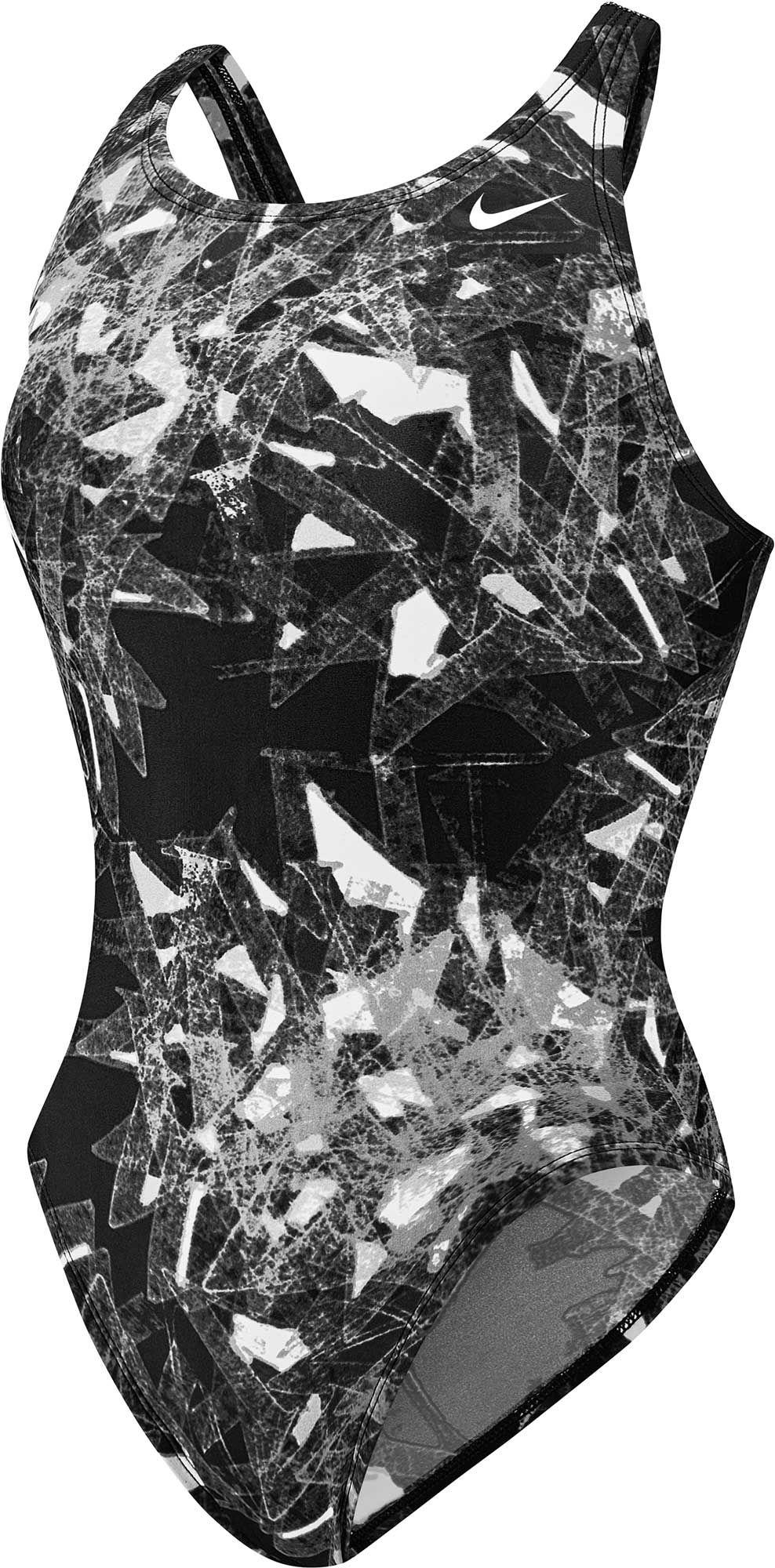 1f329ab31c3d3 Lyst - Nike Gemstone Fastback Tank Swimsuit in Black
