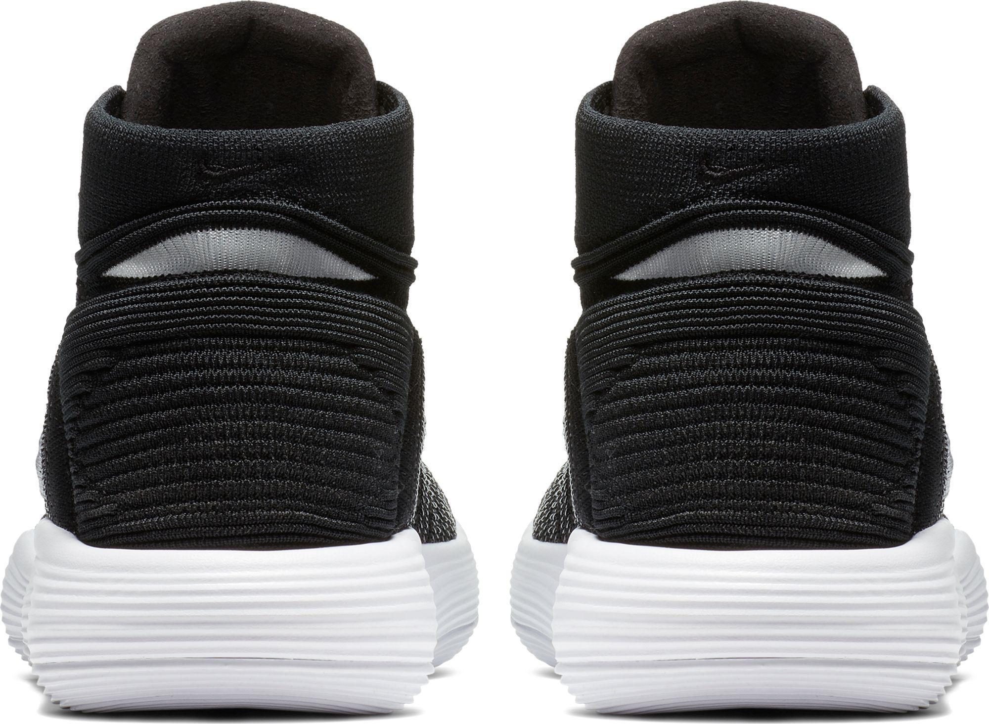 6407481d16fe16 nike black react hyperdunk 2017 flyknit basketball shoes for men lyst. view  ...