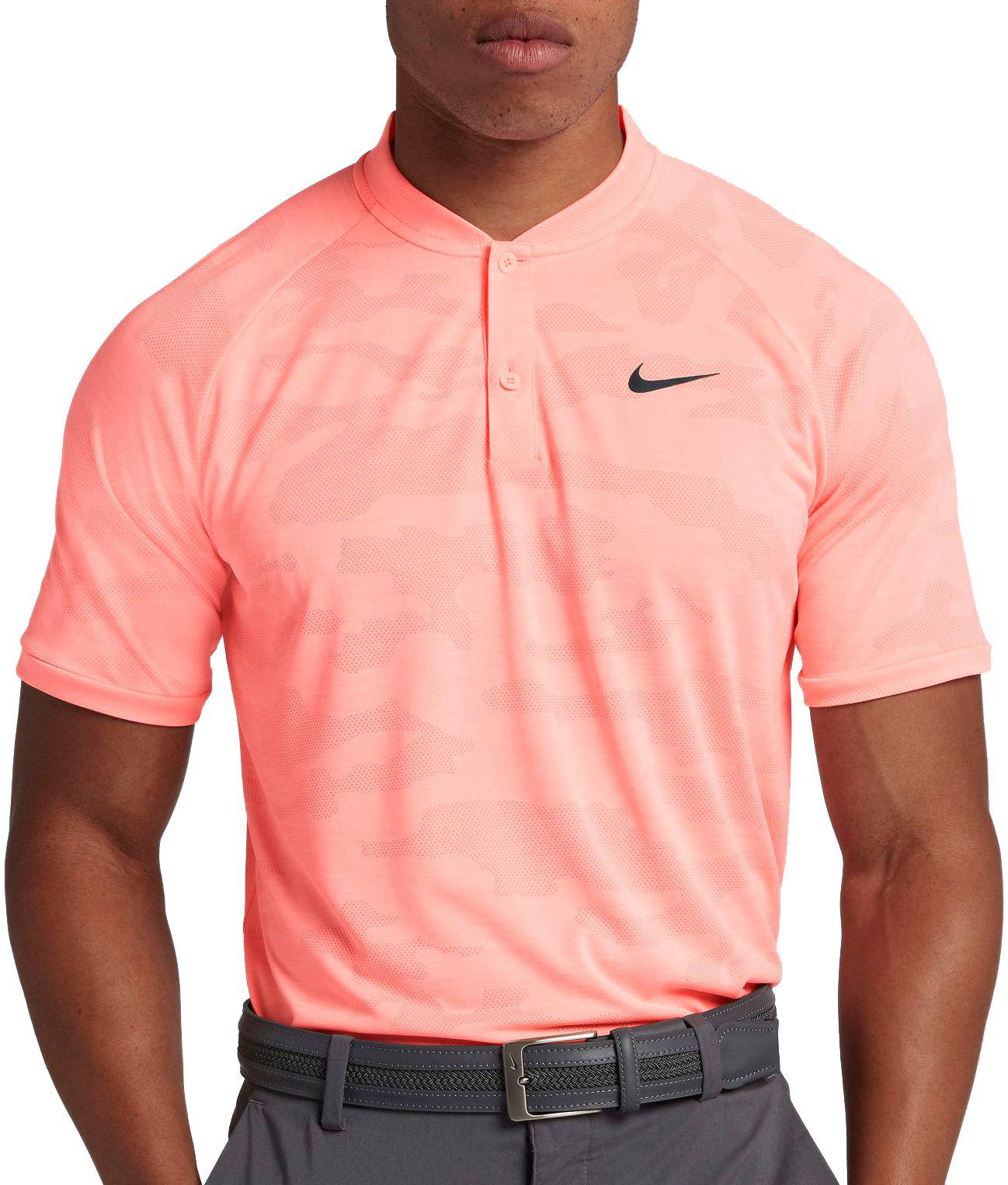 21427c1a Nike Tiger Woods Zonal Cooling Camo Golf Polo in Pink for Men - Lyst