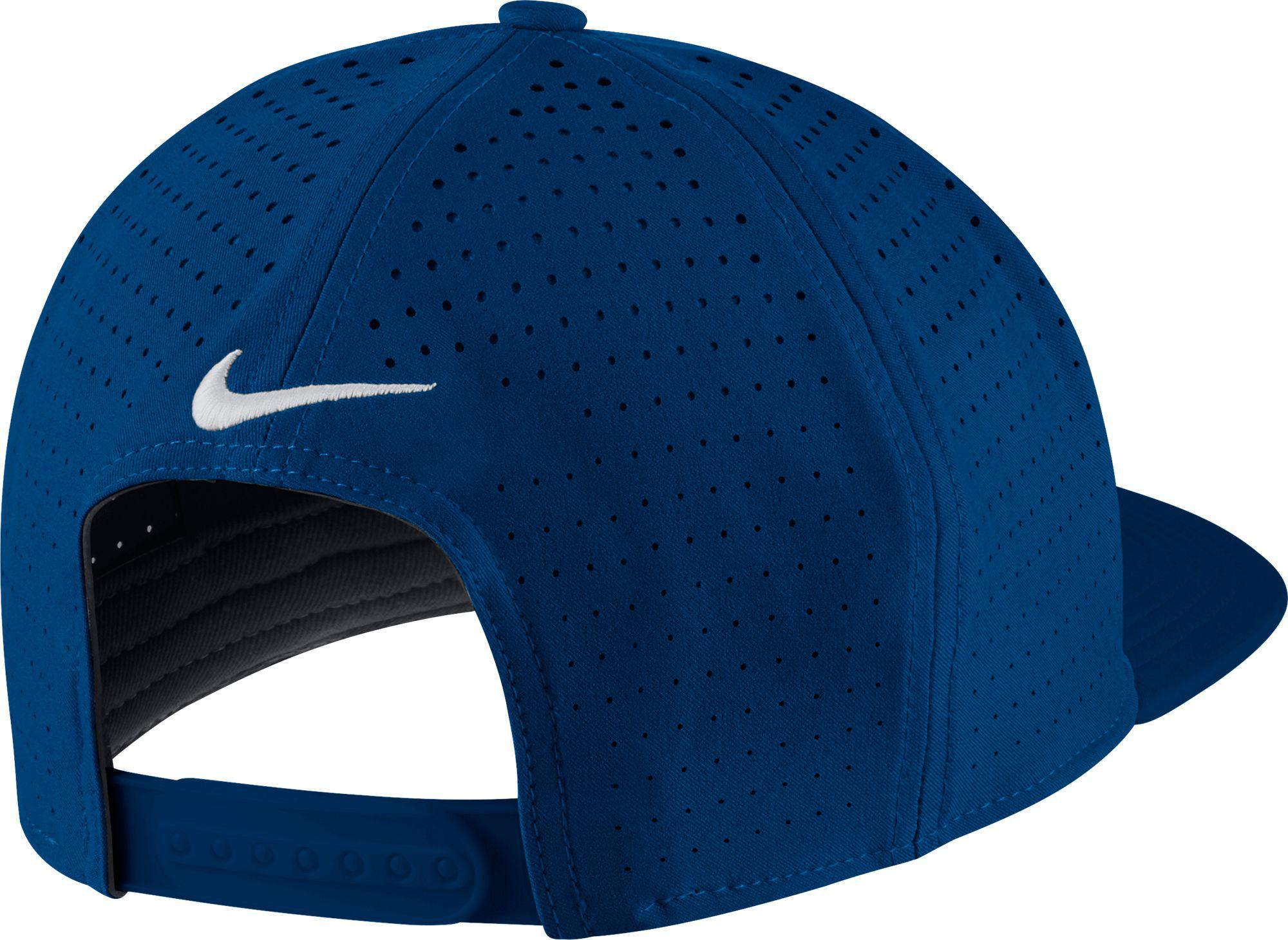 Lyst - Nike Perforated Snapback Golf Hat in Blue for Men 19259bfd358b