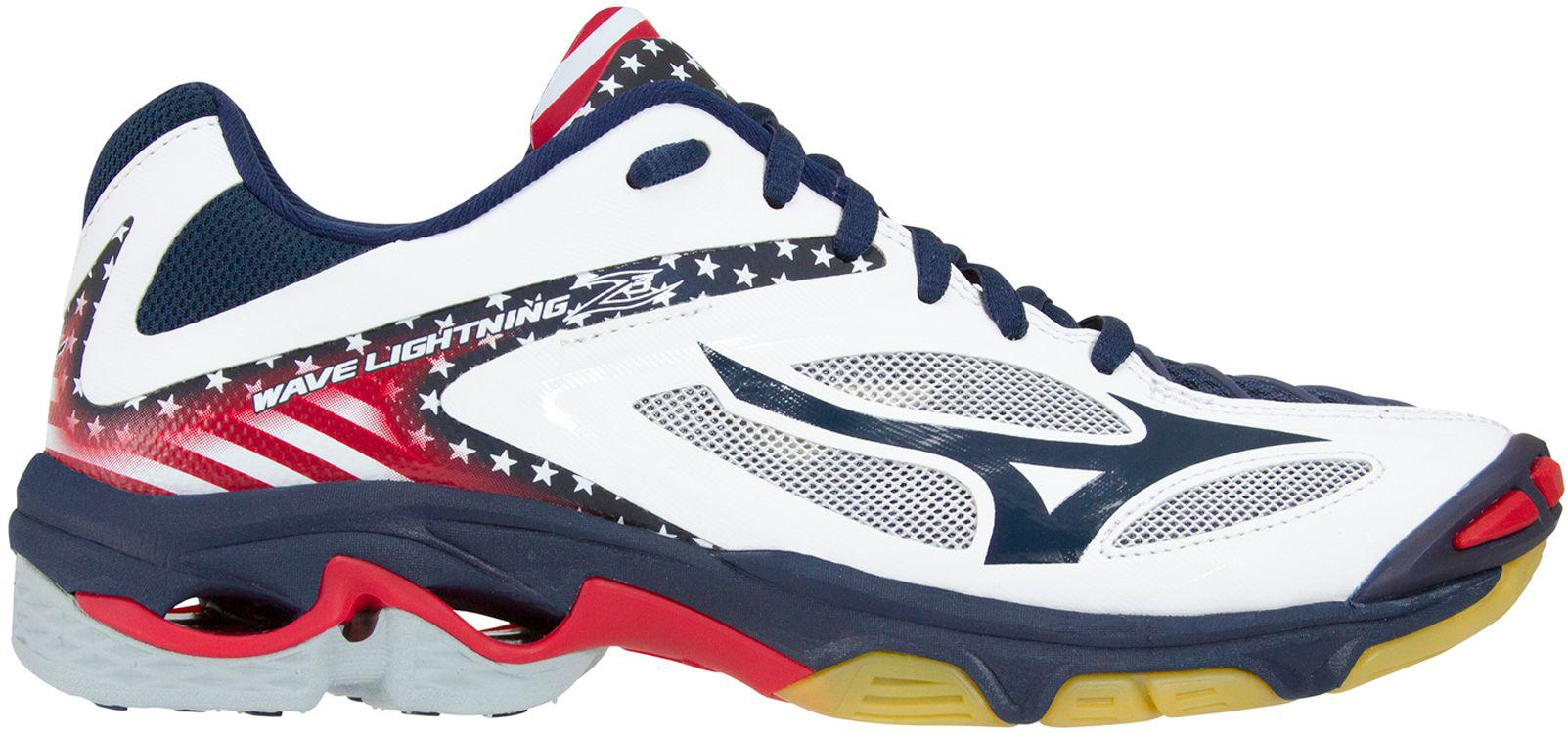 999d1ccdfe52 Mizuno - Multicolor Wave Lightning Z3 Stars And Stripes Volleyball Shoes -  Lyst