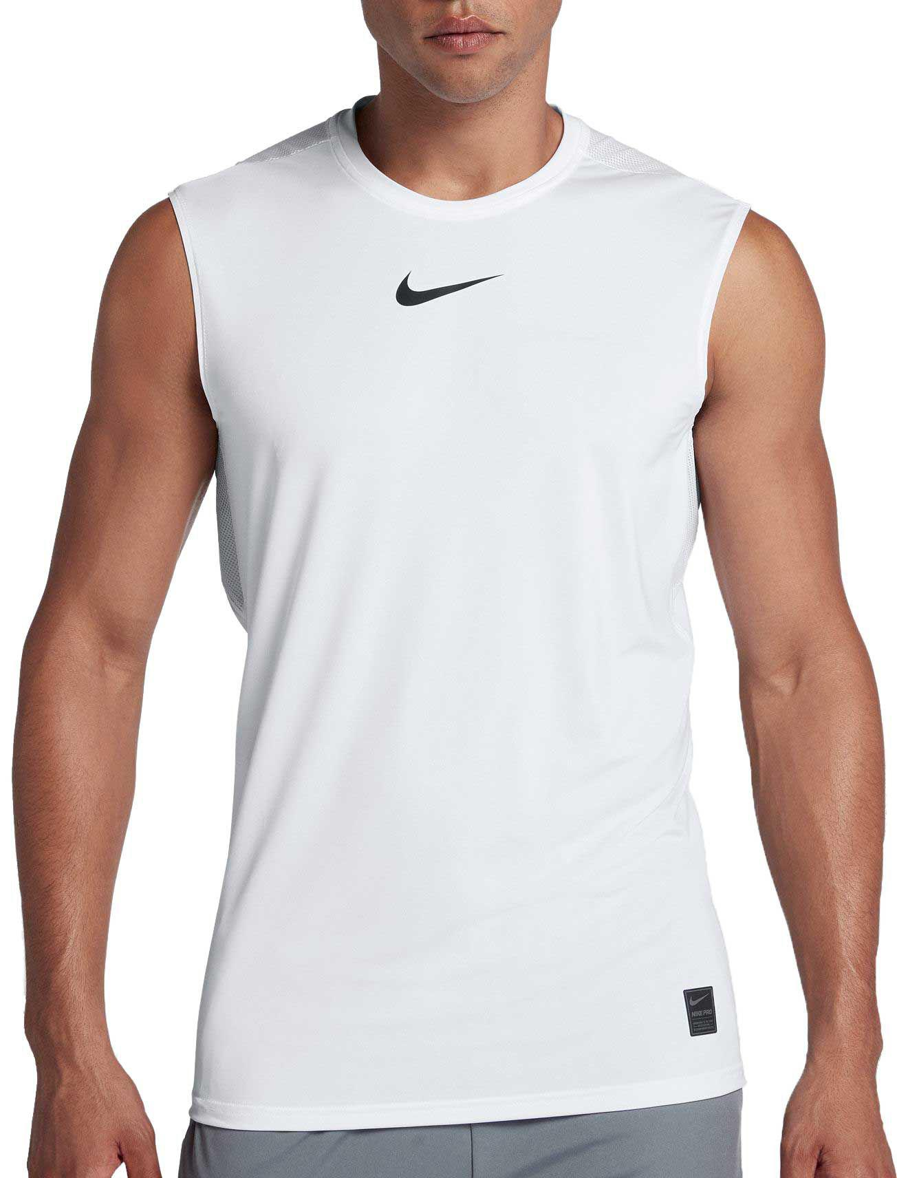 a049b1082 Nike Pro Sleeveless Training Top in White for Men - Save 46% - Lyst
