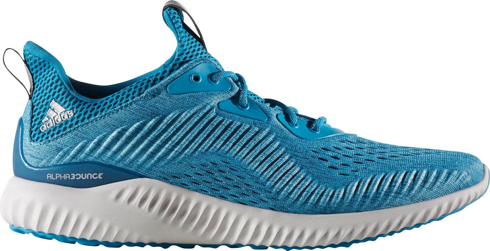 lyst adidas alpha salta loro scarpe da corsa in blu per gli uomini.