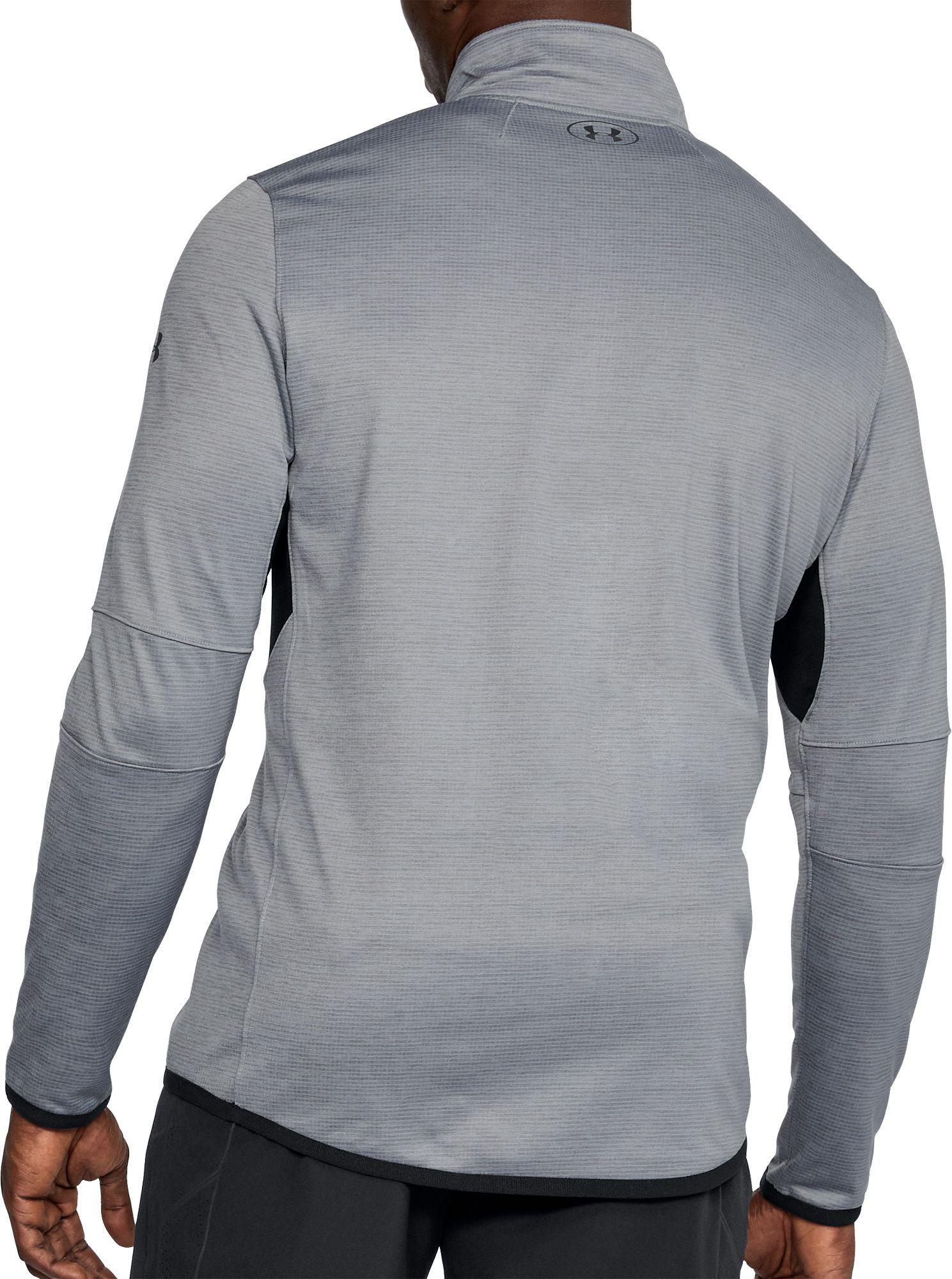 f6b7938b Under Armour Coldgear Reactor 1/4 Zip Long Sleeve T-shirt in Gray ...
