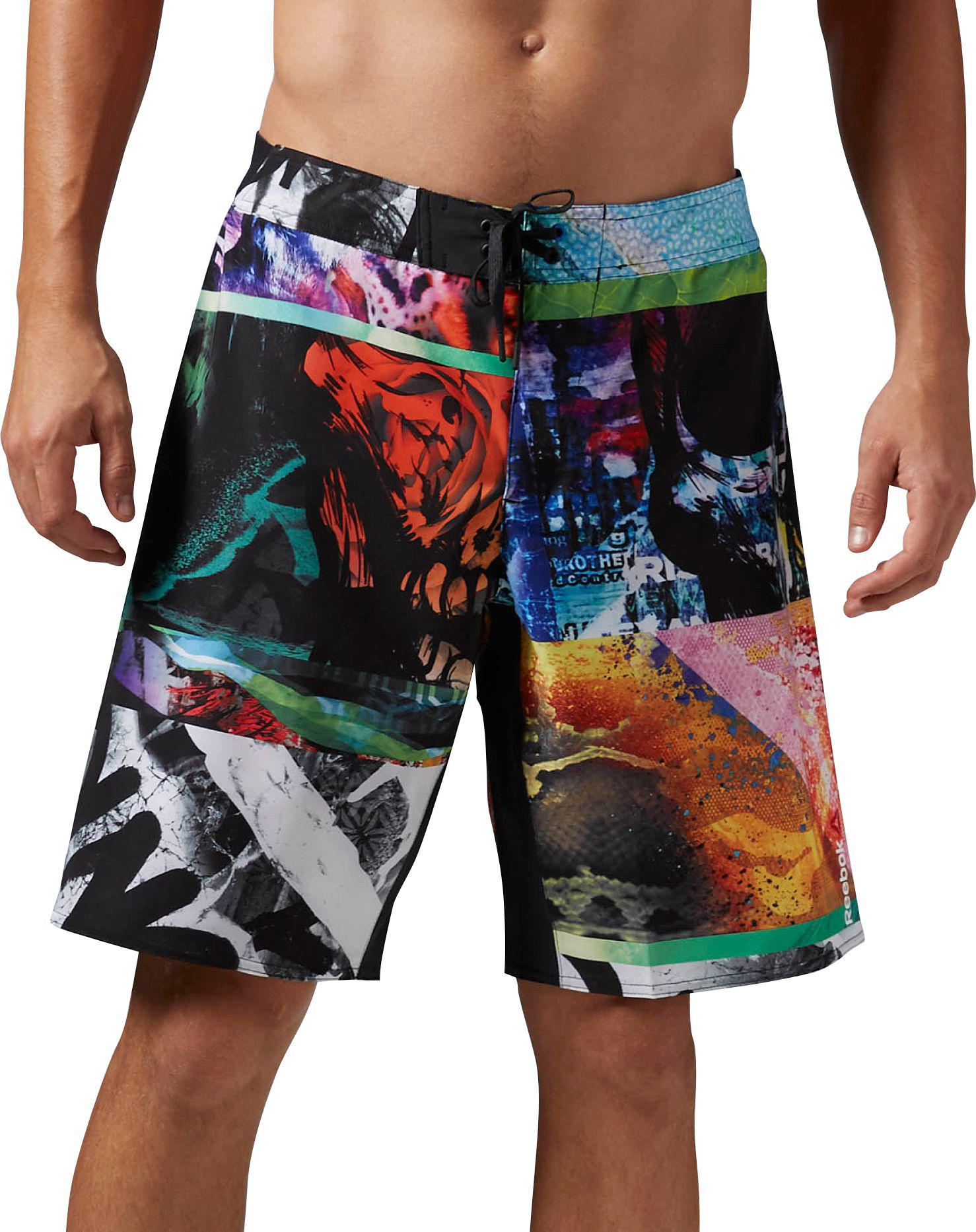 Reebok   Multicolor One Series Power Nasty Mix It Up Board Shorts for Men    Lyst. View Fullscreen