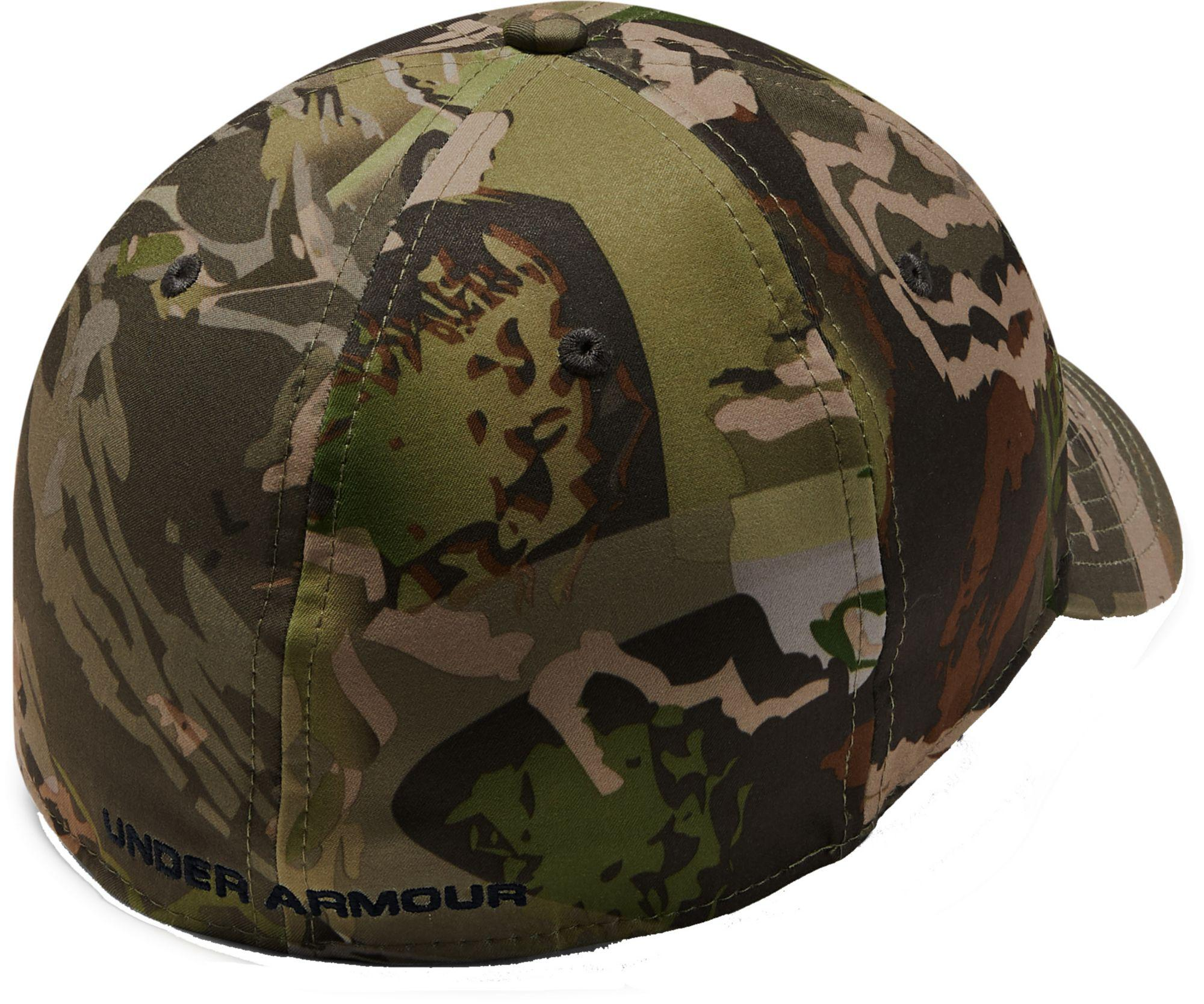 c5b55019772a1 ... official under armour green camo stretch fit hat for men lyst. view  fullscreen 7be9b b6585