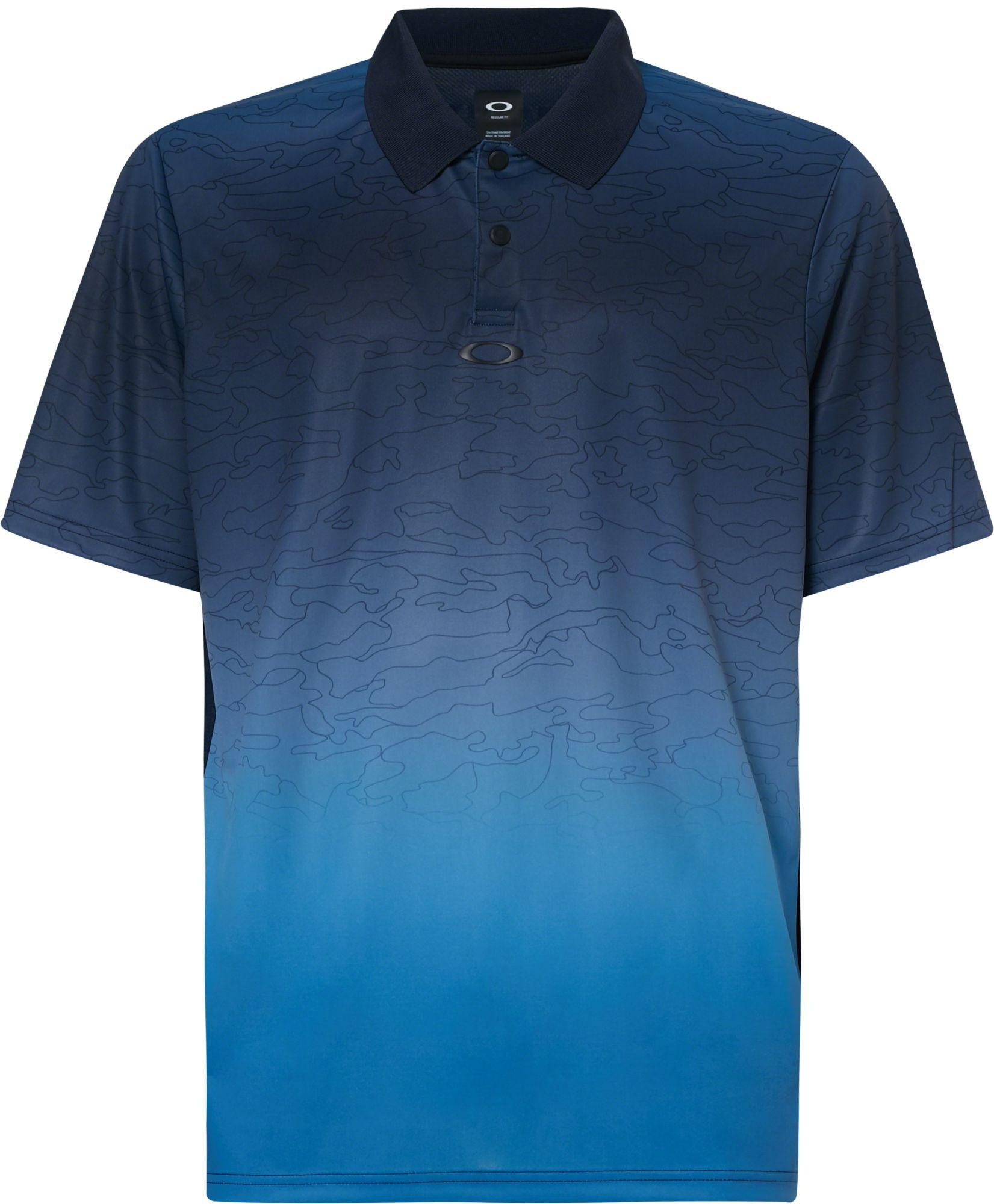 60bd7663 Lyst - Oakley Sublimated Camo Golf Polo in Blue for Men