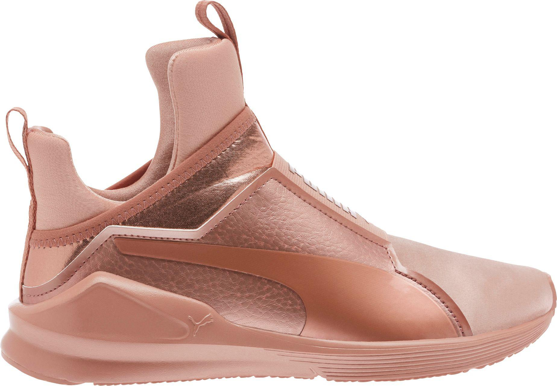 8cd8a5bf8df4 Lyst - PUMA Fierce Velvet Rope Shoes in Pink
