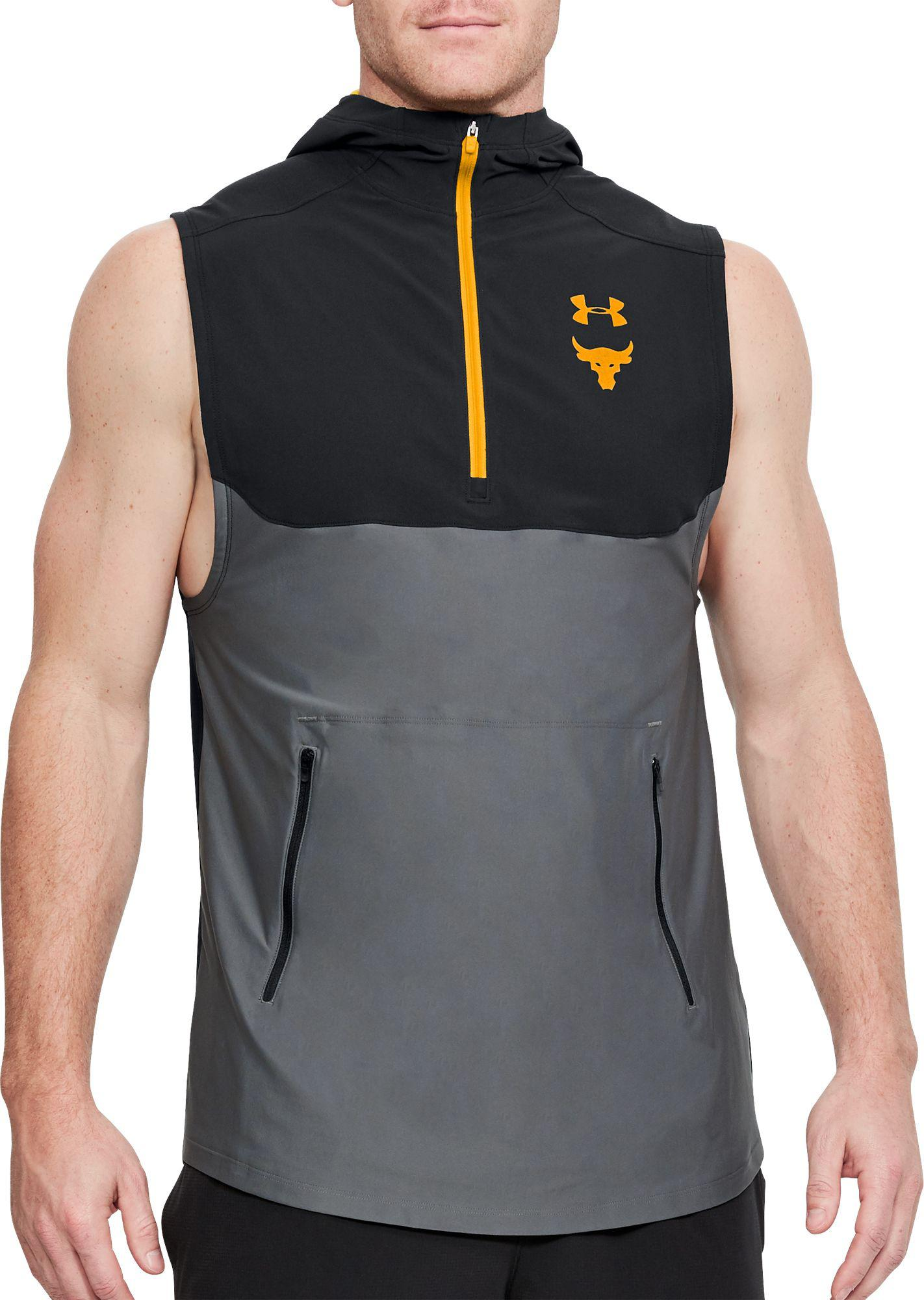 1127588af1740 Lyst - Under Armour Project Rock Vanish Sleeveless Hoodie in Black ...