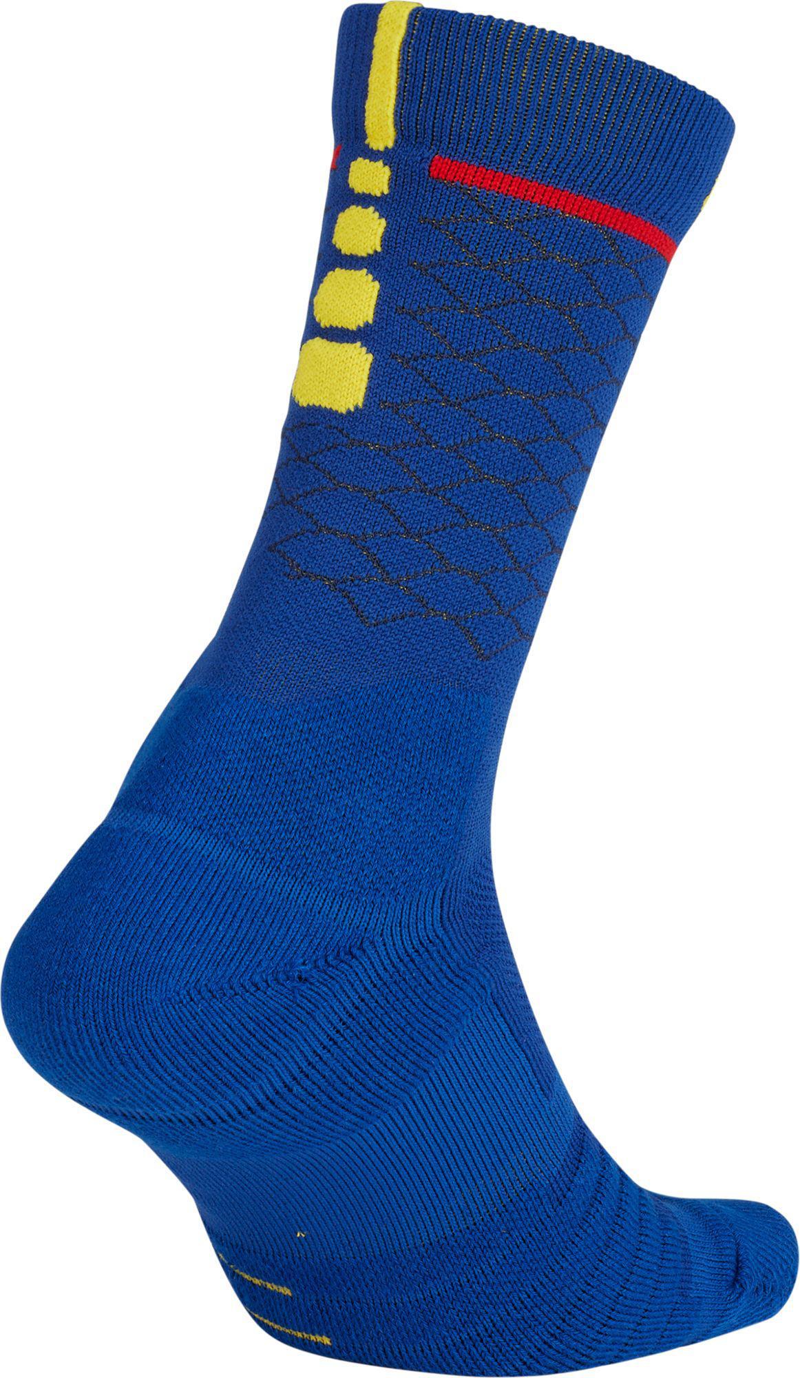 e7e6b9f1eab7 Lyst - Nike Golden State Warriors City Edition Elite Quick Nba Crew Socks  in Blue for Men