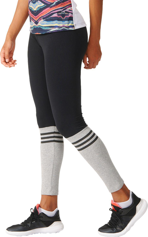 4f79e685a3441 adidas Originals 3-stripes Crew Leggings in Black - Lyst