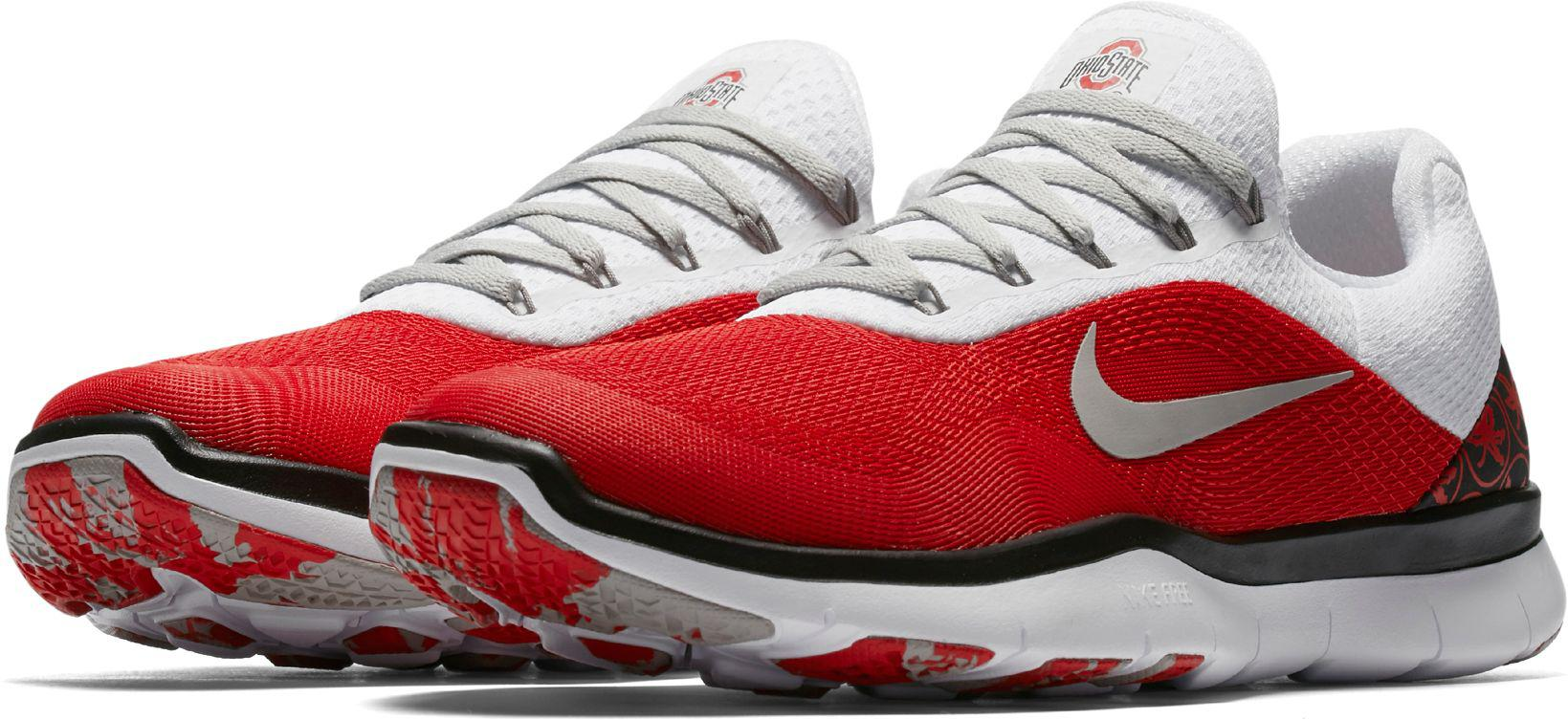 201b13da2051 Nike - Red Free Trainer V7 Week Zero Ohio State Edition Training Shoes for  Men -