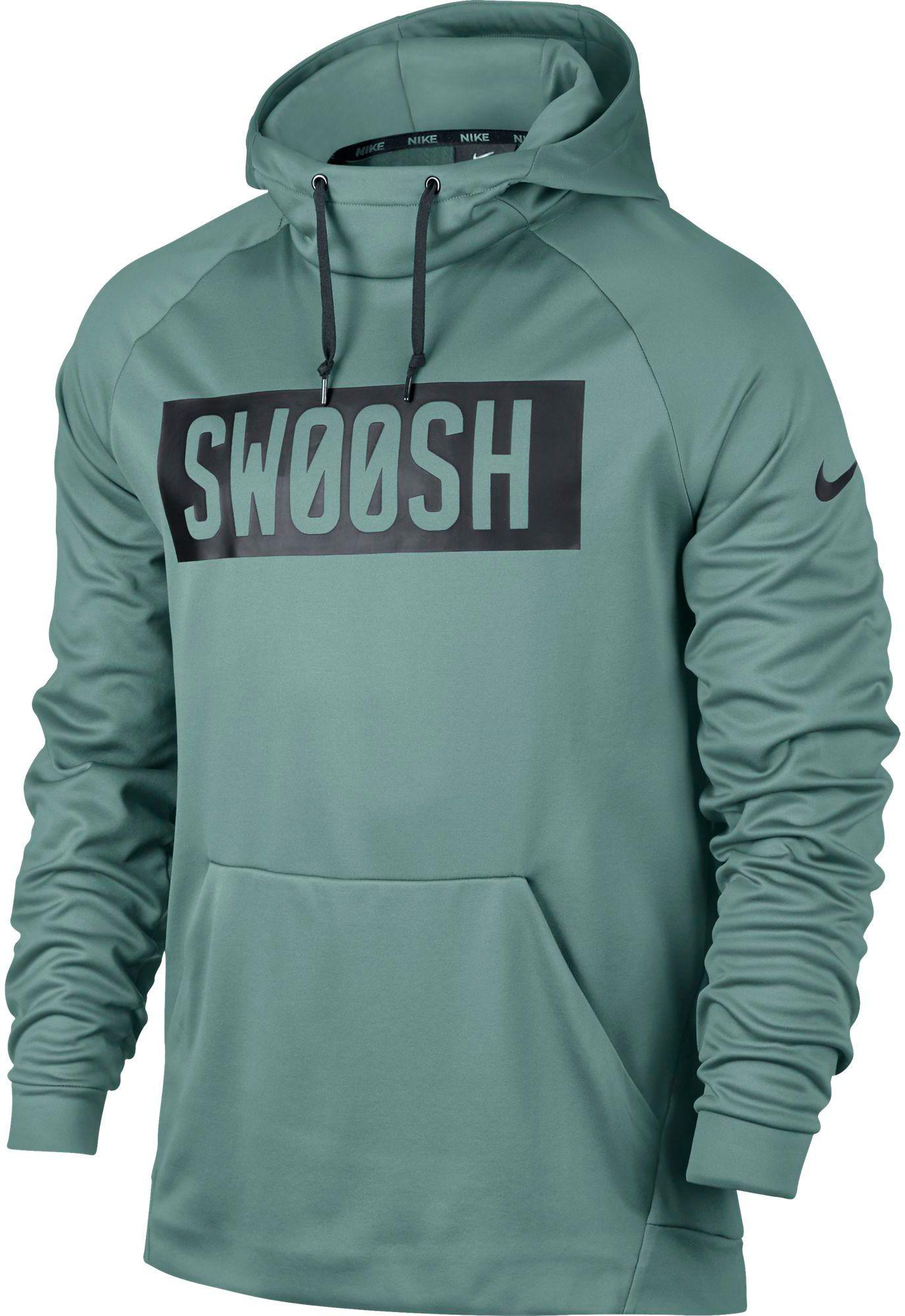 cb9ab9426e Lyst - Nike Therma Bar Swoosh Hoodie in Green for Men