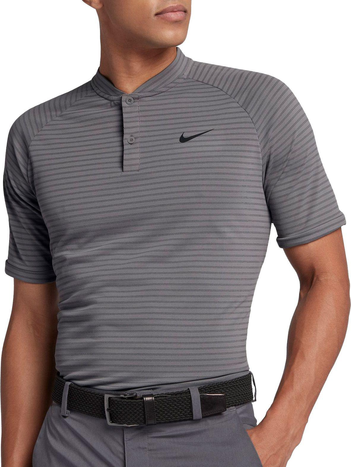 0a3d0728 Lyst - Nike Tiger Woods Thin Stripe Zonal Cooling Golf Polo in Gray ...