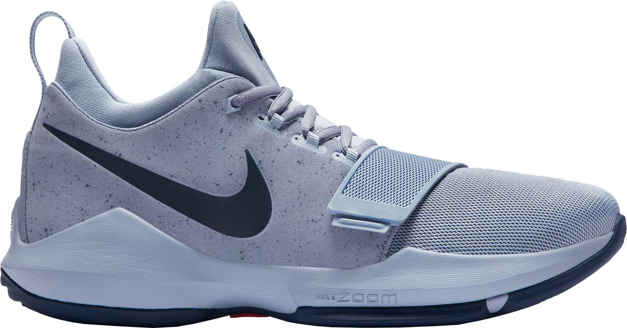 lyst nike pg 1 scarpe da basket in blu per gli uomini.